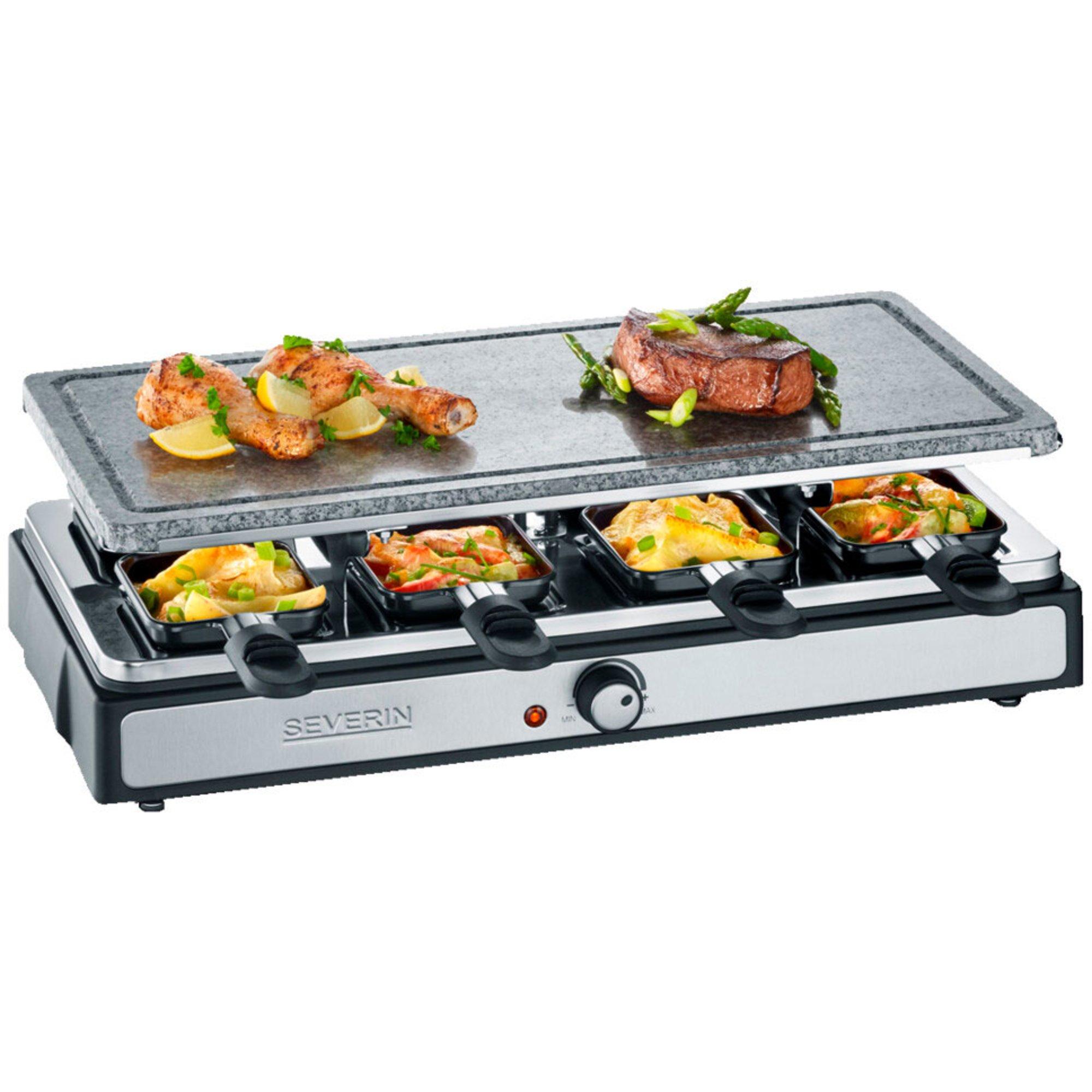 Severin Deluxe raclette med stor grillplatta