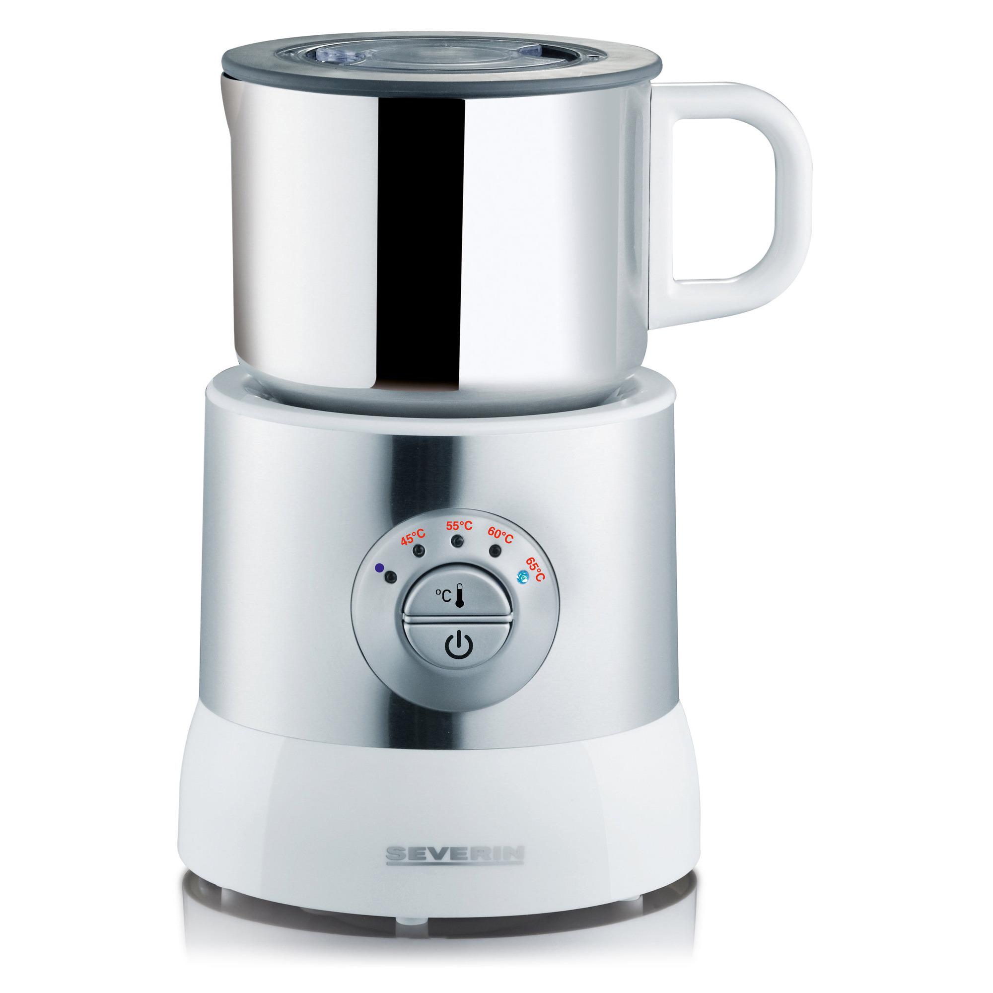 Severin Mjölkskummare Silver/Vit 700 ml – SM9685