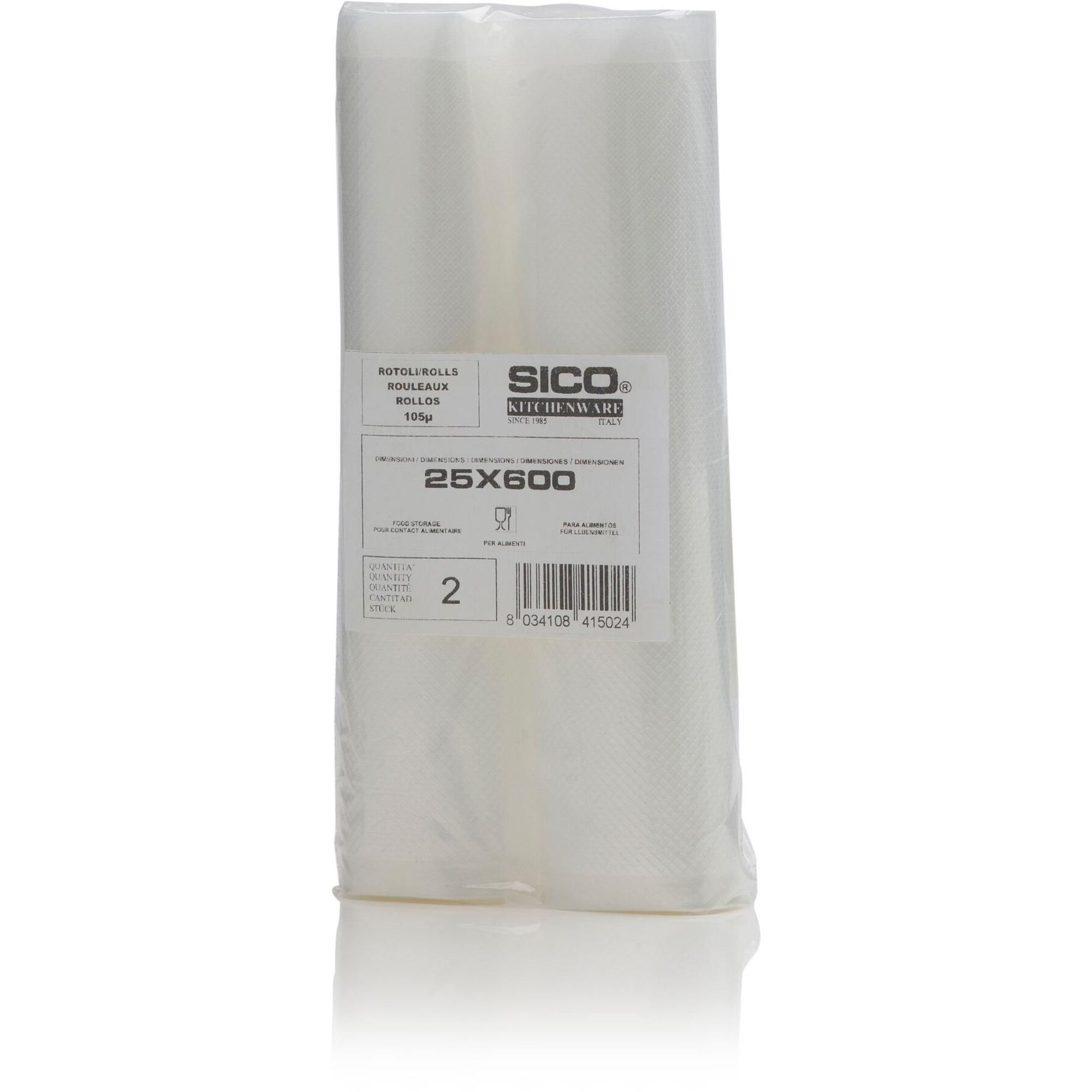 Sico 25×600 cm Rullar Vakuumpaketering 2-pack