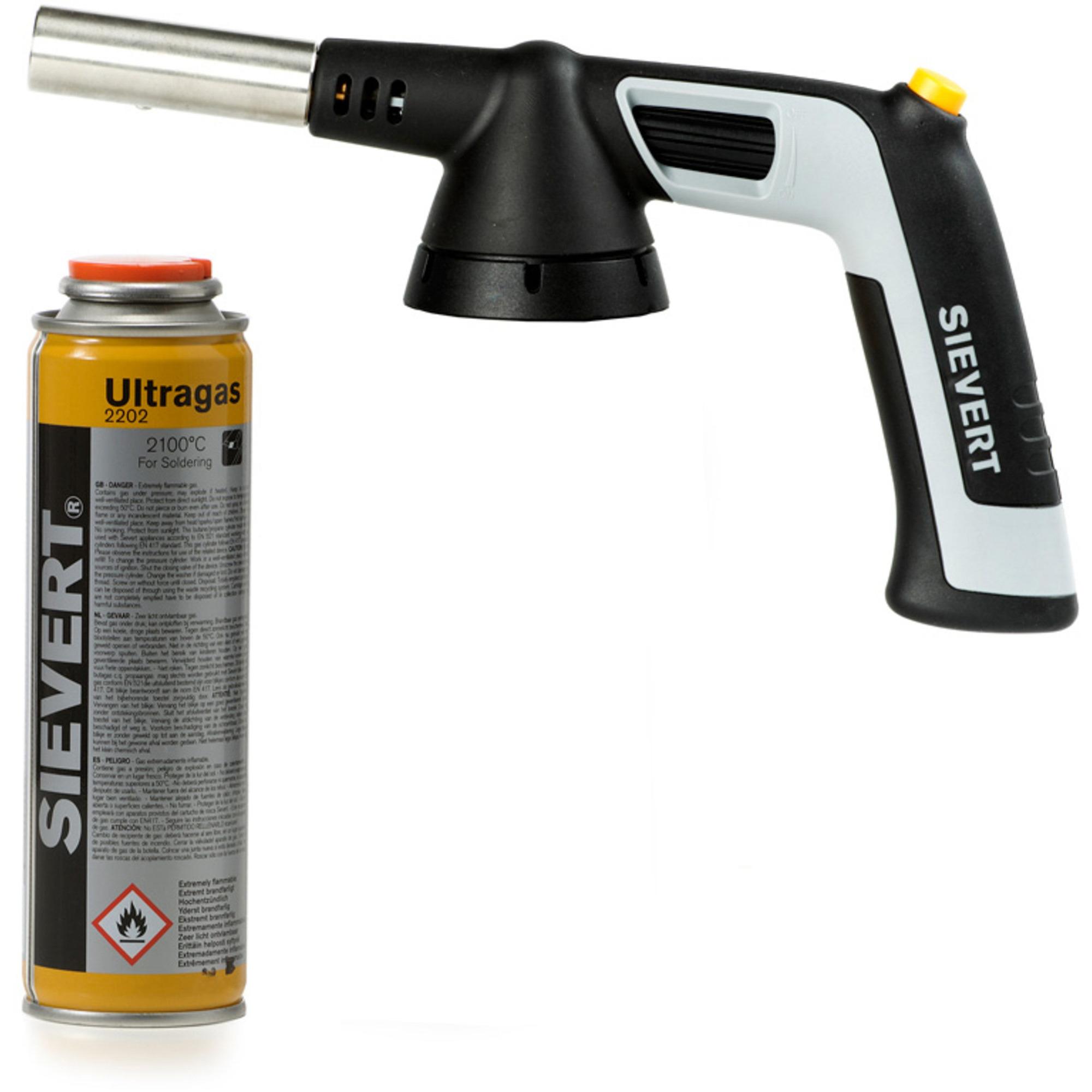 Sievert Handyjet Gasbrännare + UltragasGasflaska 110 ml