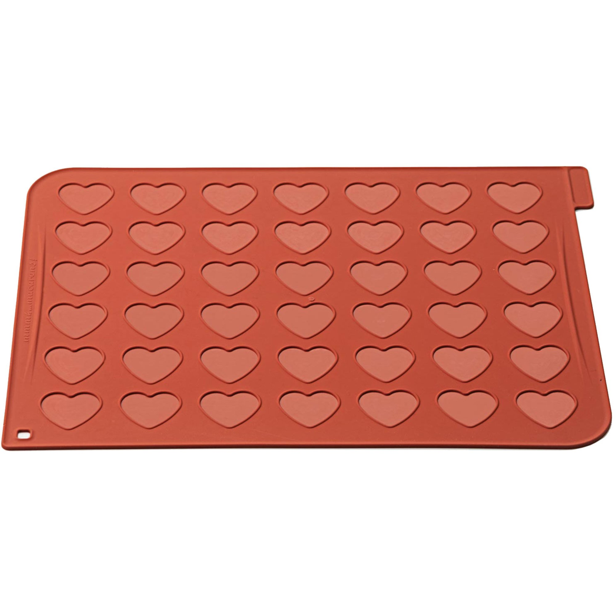 Silikomart Silikonmatta Hjärtan Macarons
