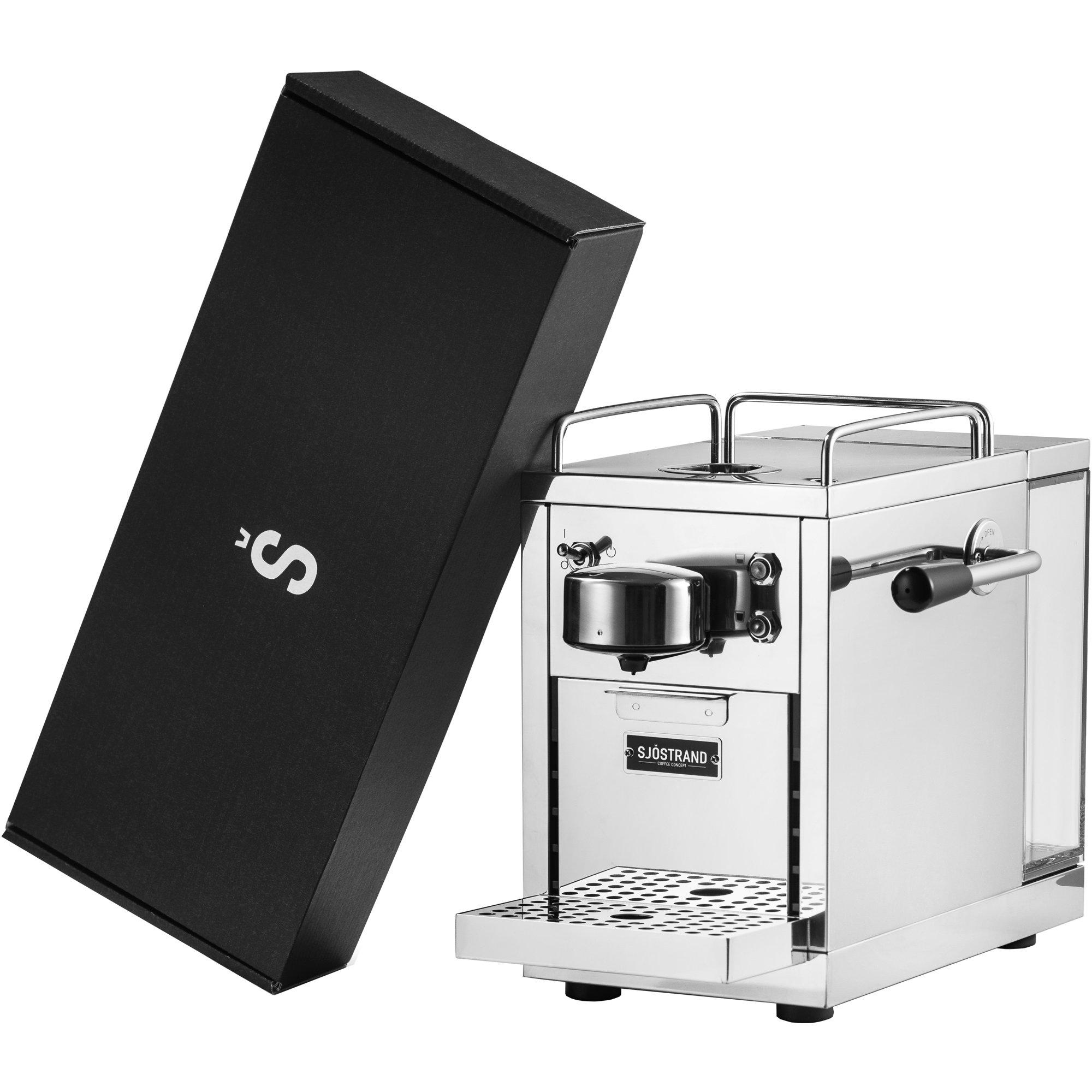 Sjöstrand Espresso kapselmaskin med 100 kaffekapslar