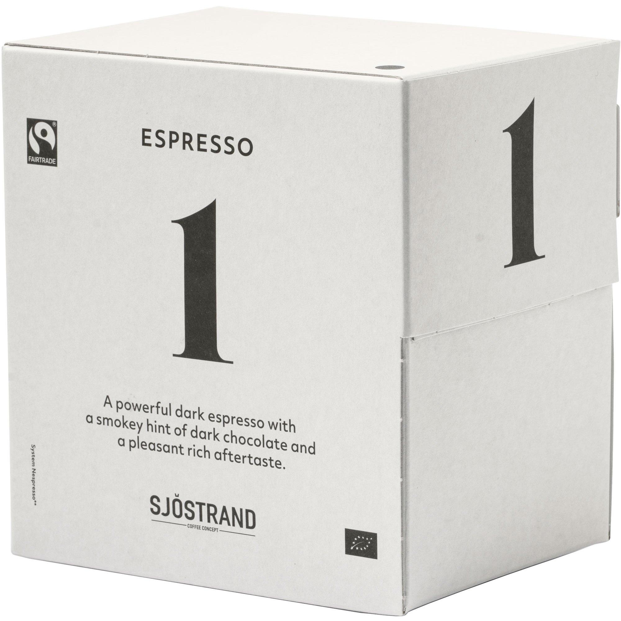 Sjöstrand Sjöstrand N°1 Espresso Kaplsar 100-pack