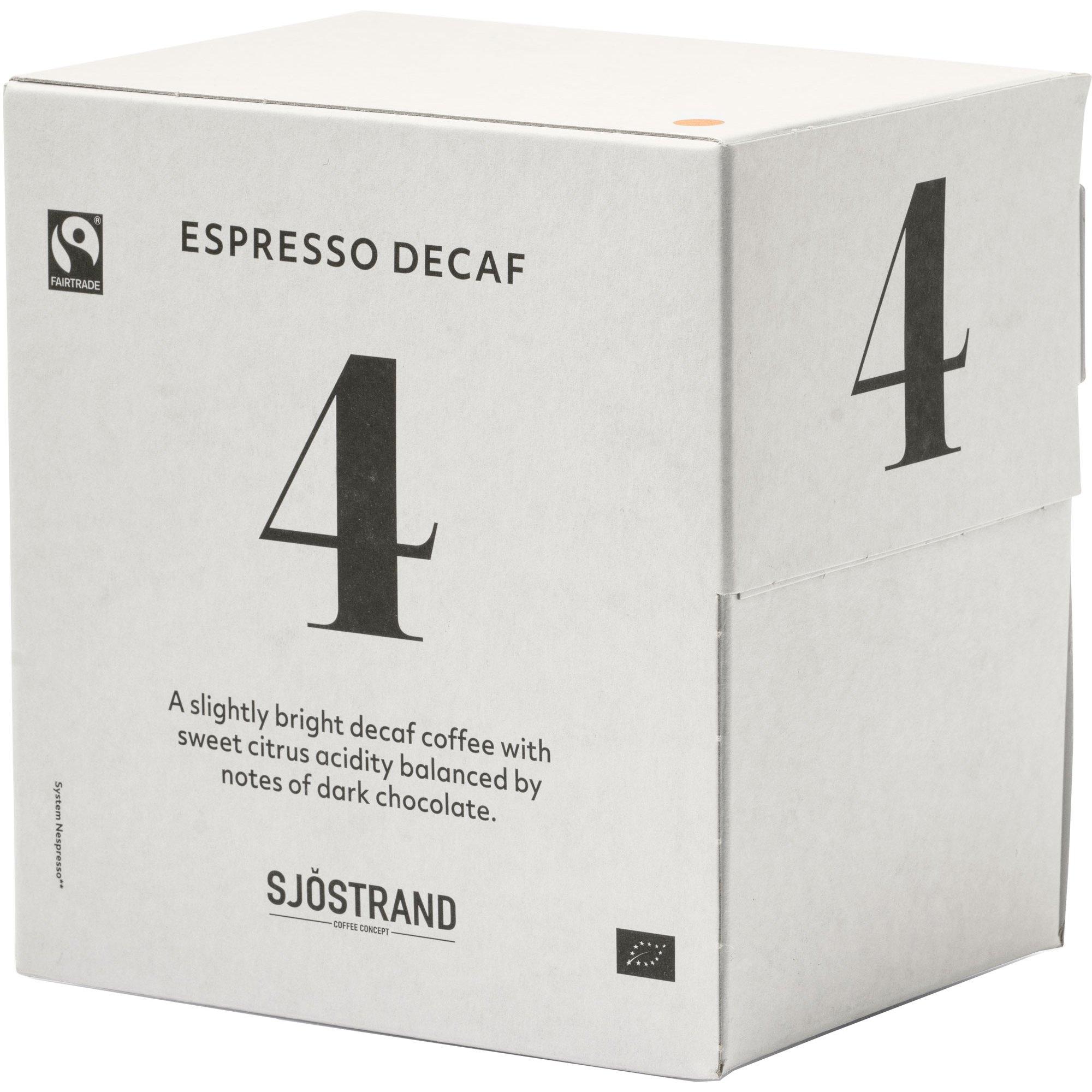 Sjöstrand Sjöstrand N°4 Espress Decaf Kapslar 100 pack