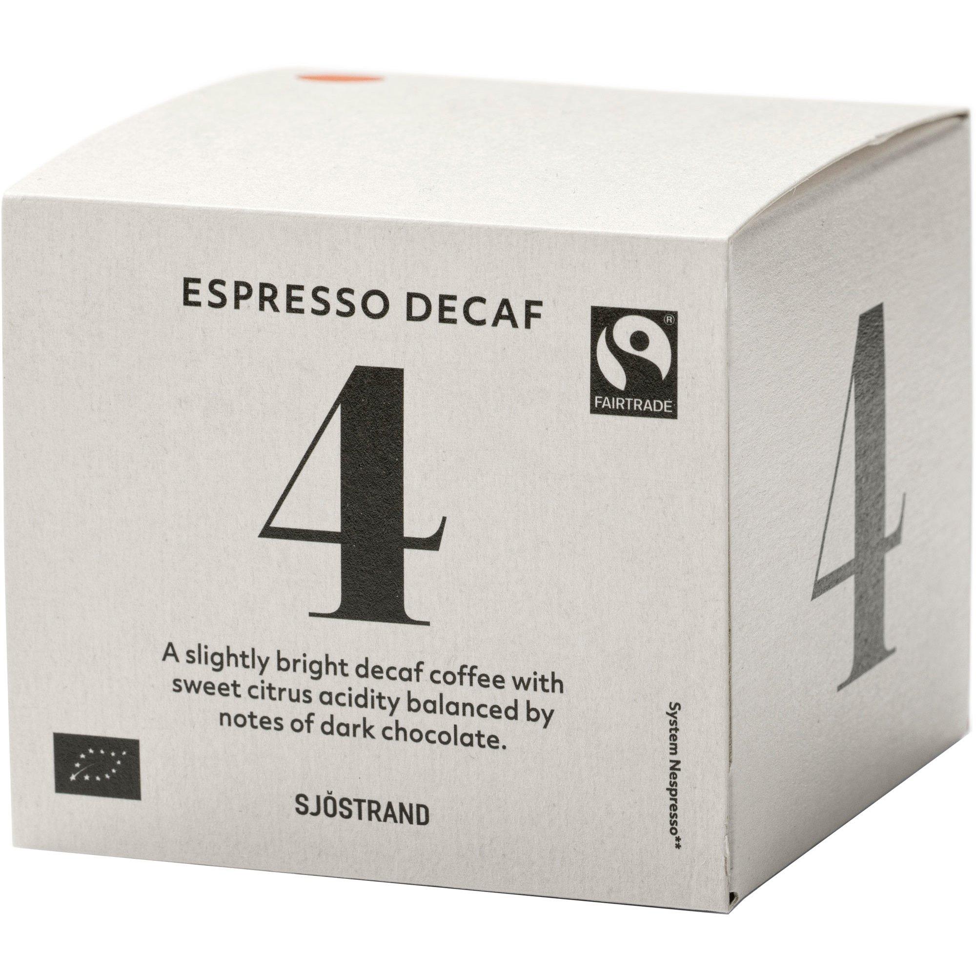 Sjöstrand Sjöstrand N°4 Espresso Decaf Kapslar 10-pack