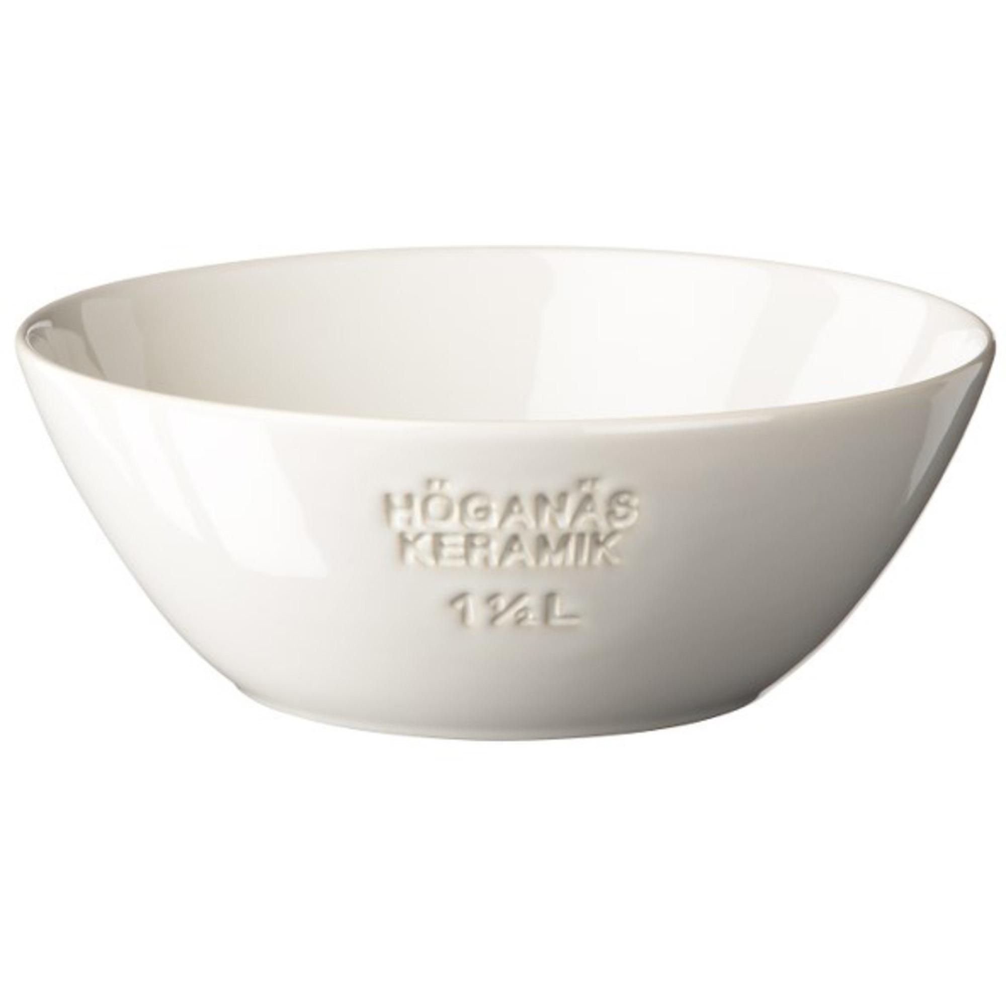 Höganäs Keramik Skål 15 L Vit blank