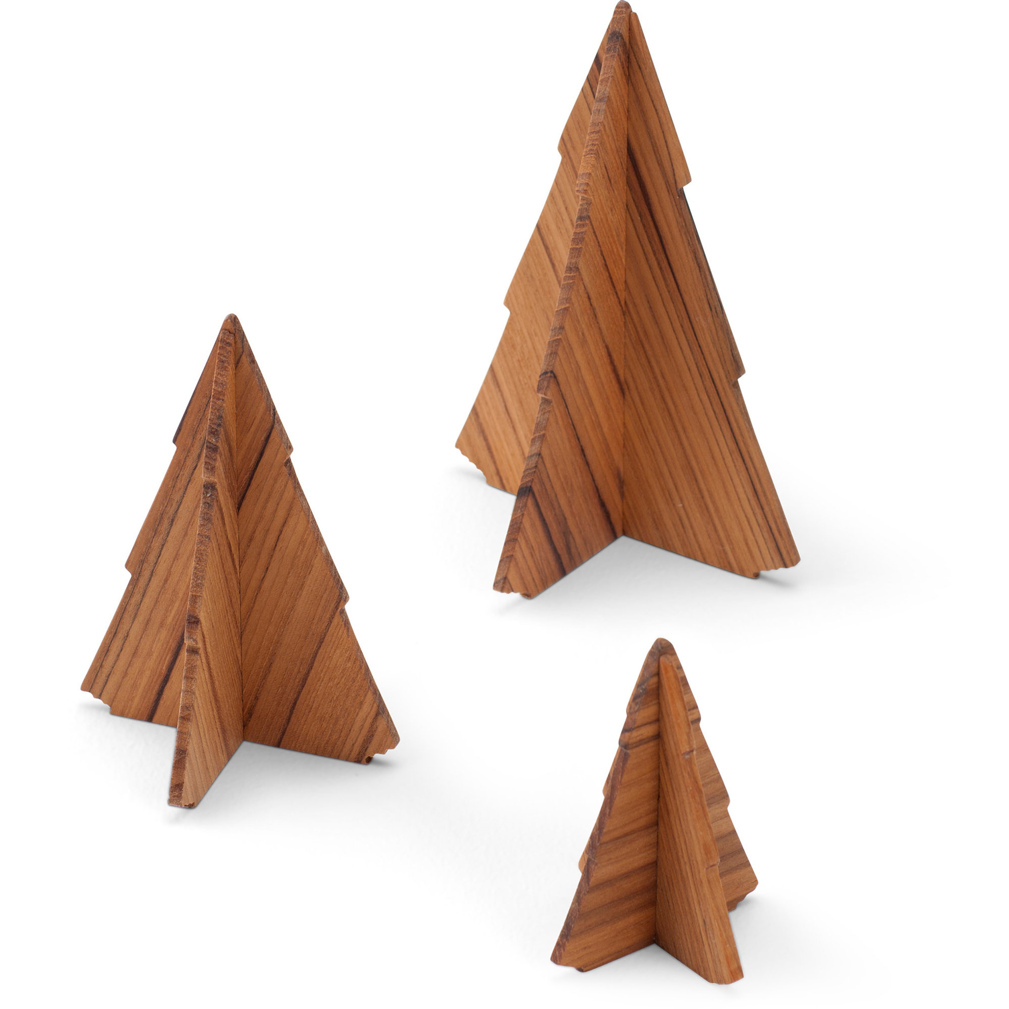 Skagerak Spruce Träd i Teak 3-Pack