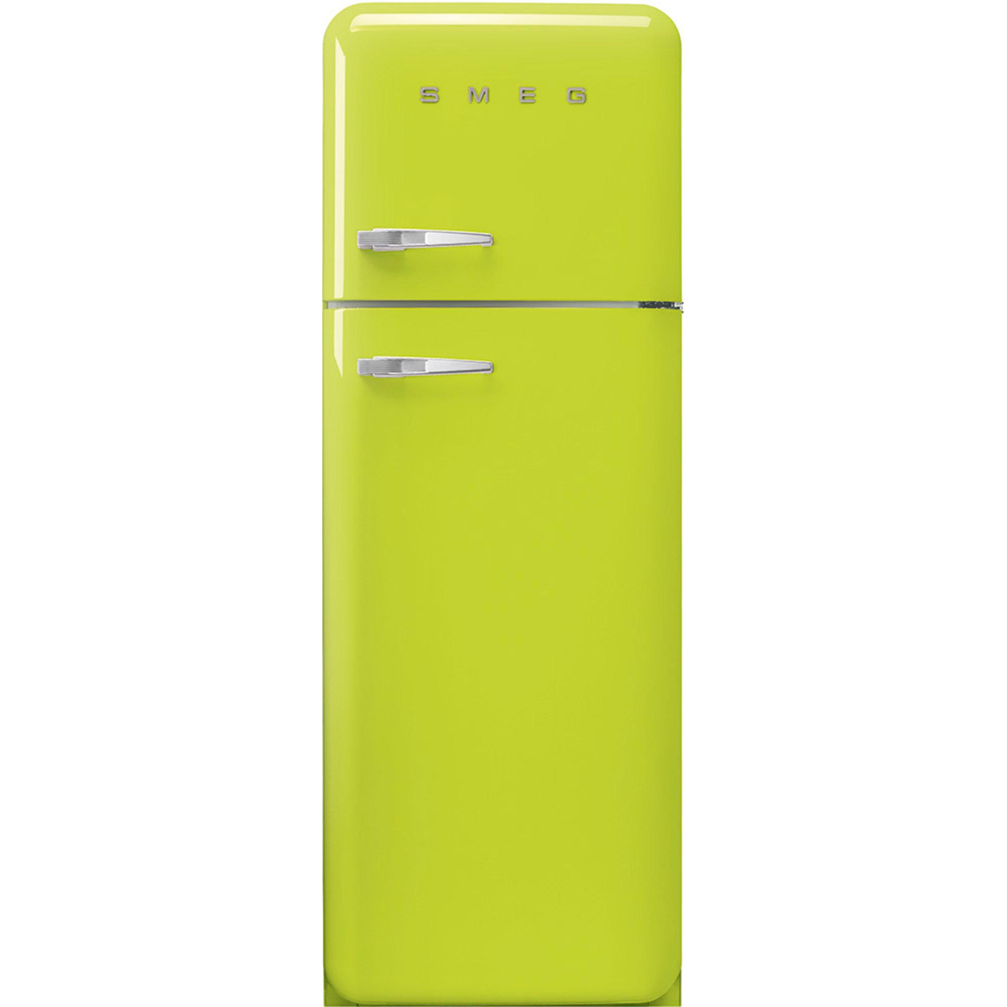 Smeg 172 cm Högerhängt kylskåp/frys i 50-tals Retro Design Limegrön