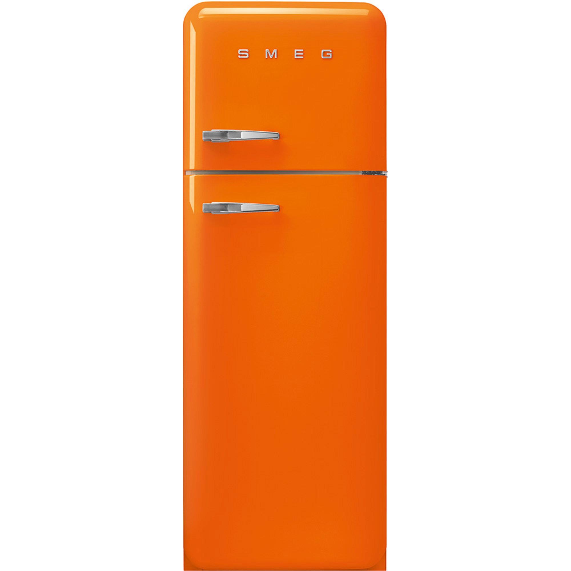 Smeg 172 cm Högerhängt Kylskåp/frys i 50-tals Retro Design Orange