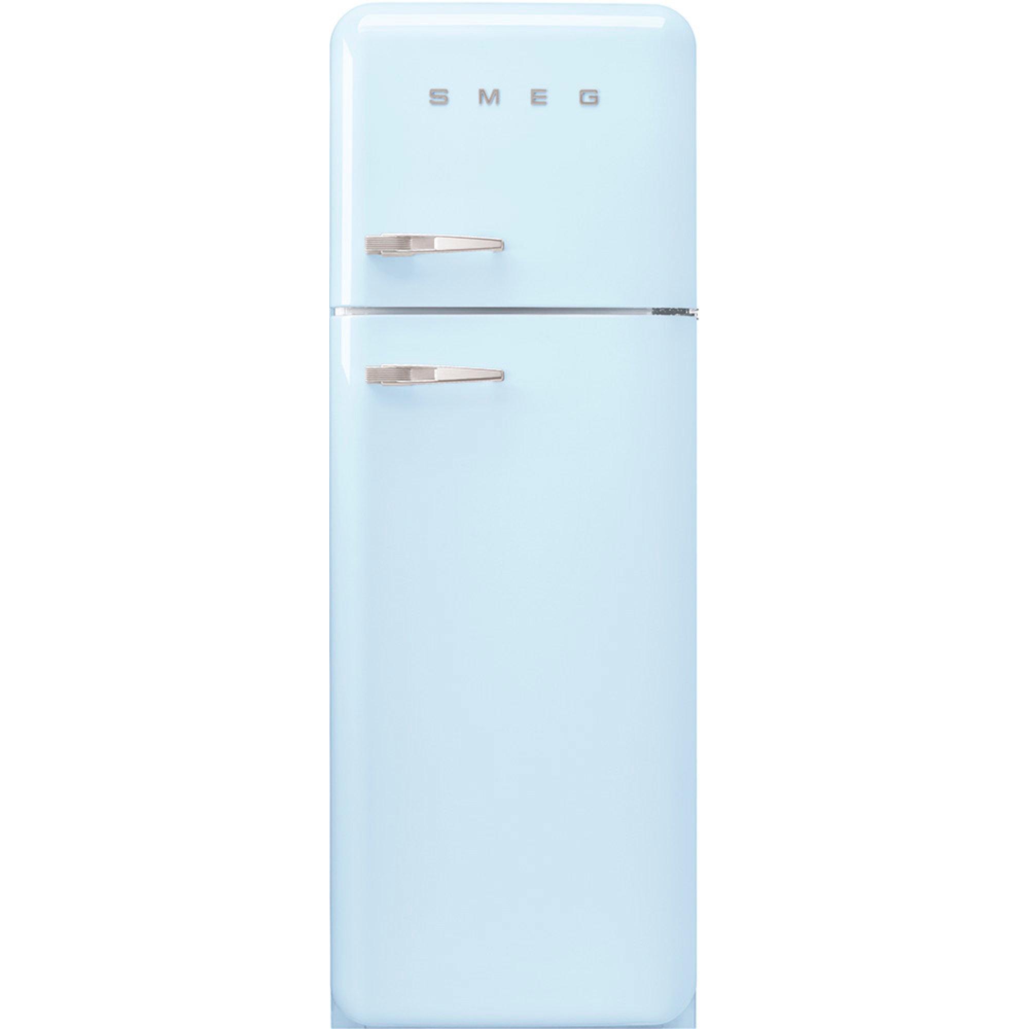 Smeg 172 cm Högerhängt kylskåp/frys i 50-tals Retro Design Pastellblå