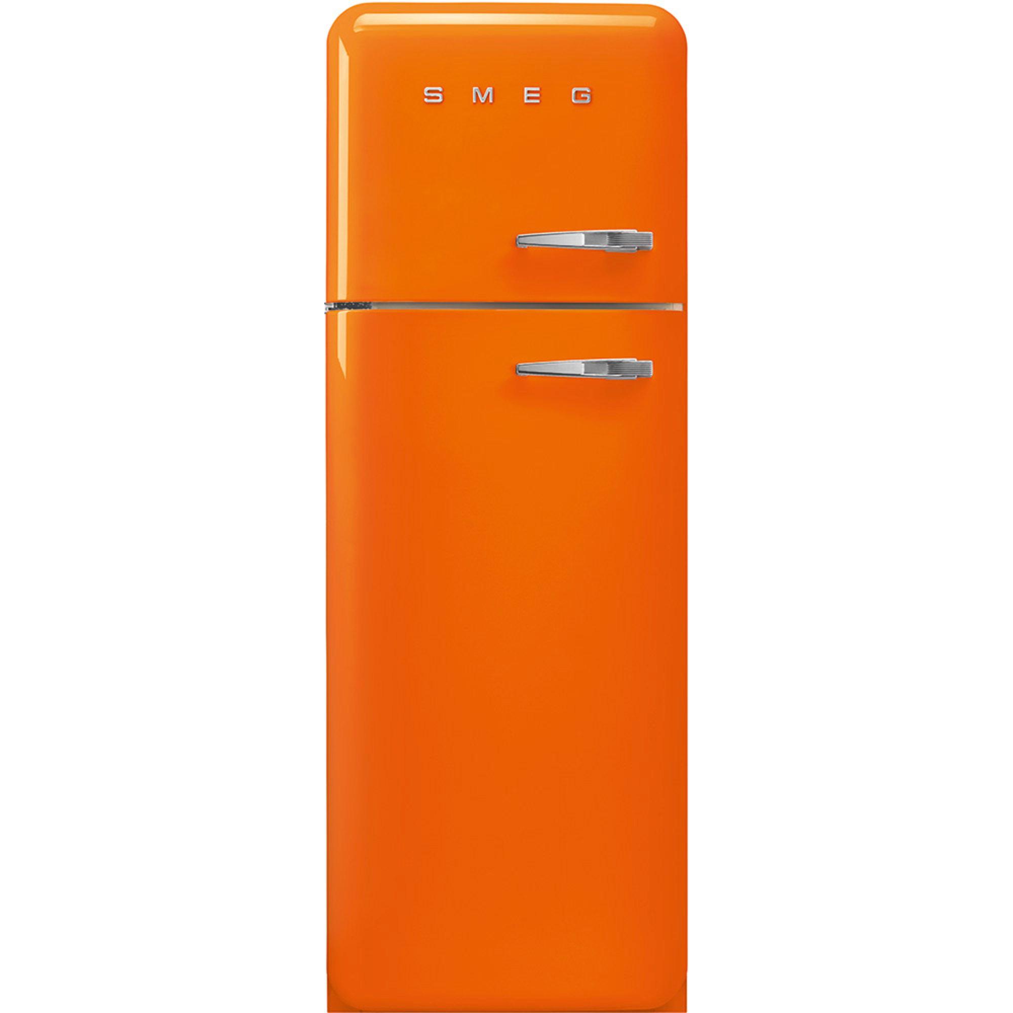 Smeg 172 cm Vänsterhängt kylskåp/frys i 50-tals Retro Design Orange
