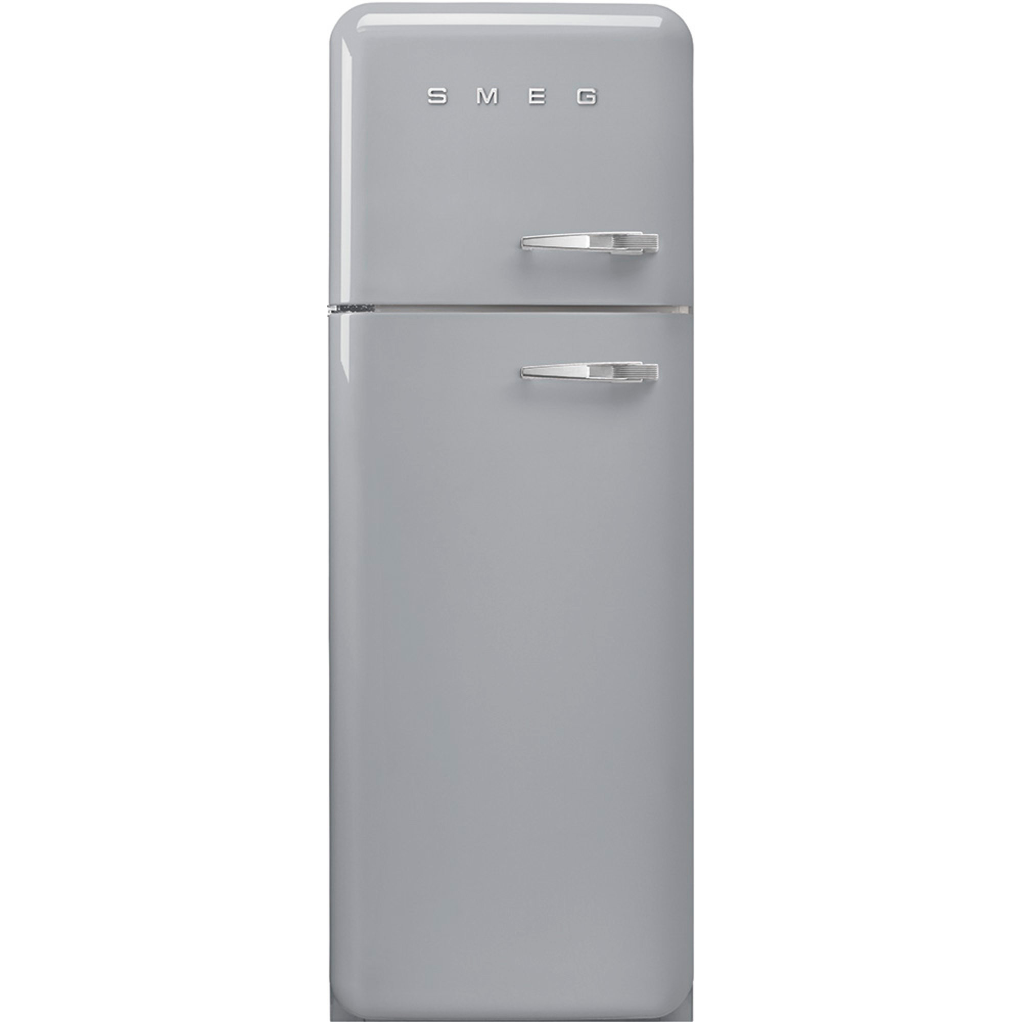 Smeg 172 cm Vänsterhängt Kylskåp/frys i 50-tals Retrodesign Silver
