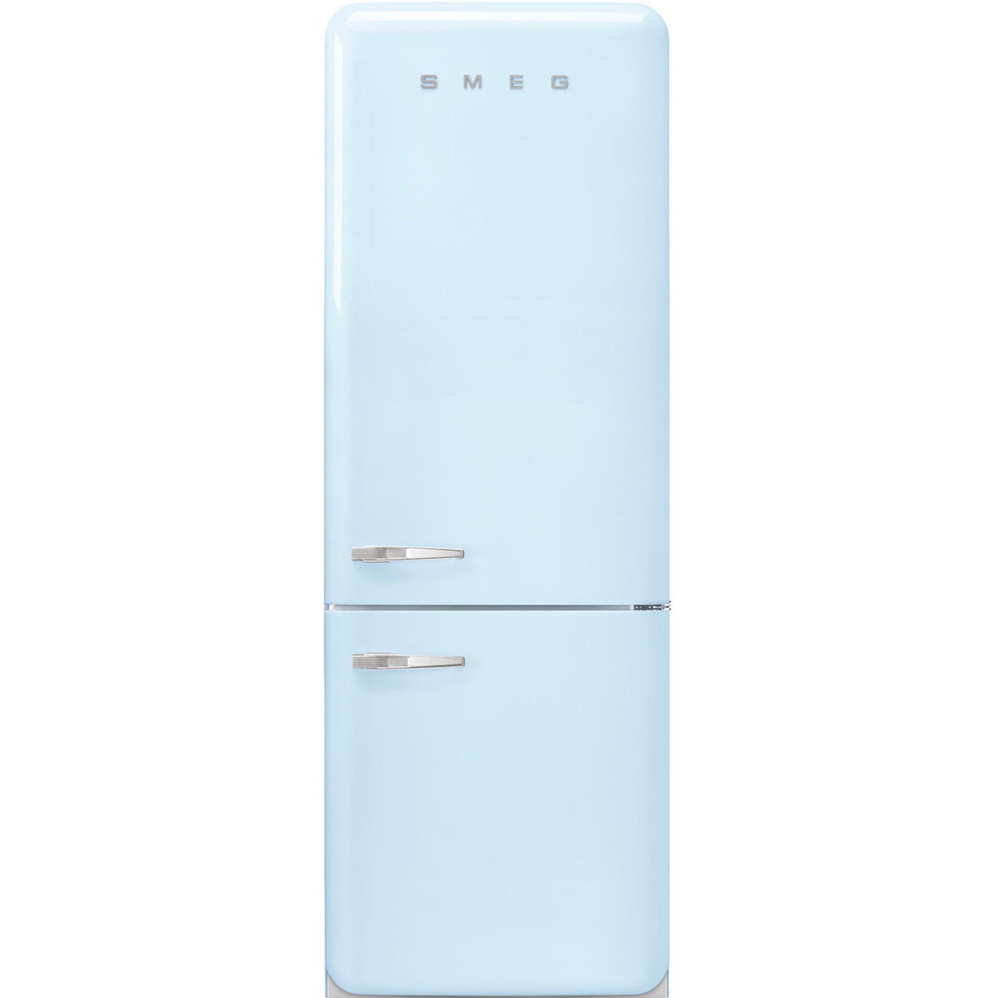Smeg 205 cm Högerhängt Kylskåp/frys i 50-tals Retrodesign Pastellblå