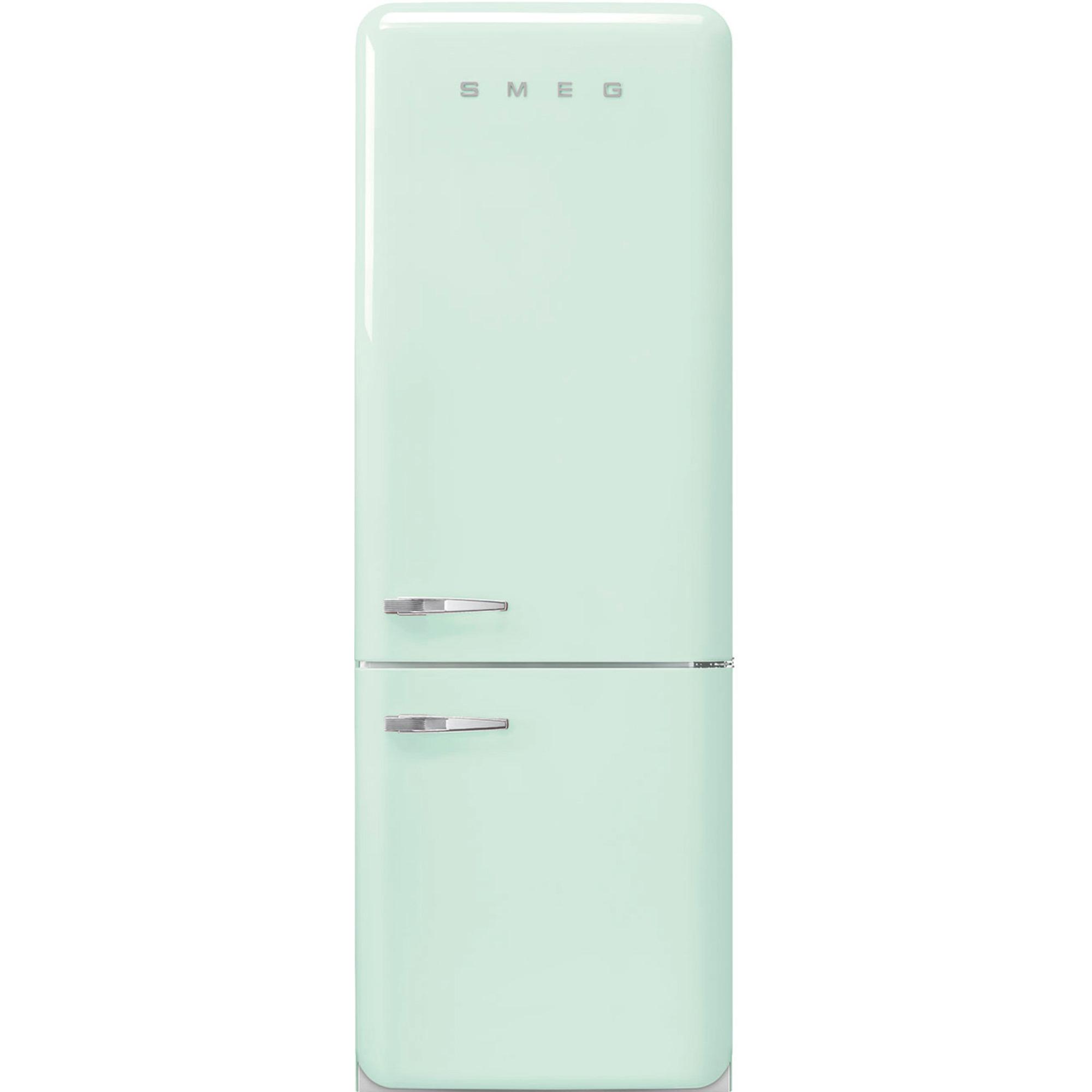 Smeg 205 cm Högerhängt Kylskåp/frys i 50-tals Retrodesign Pastellgrön