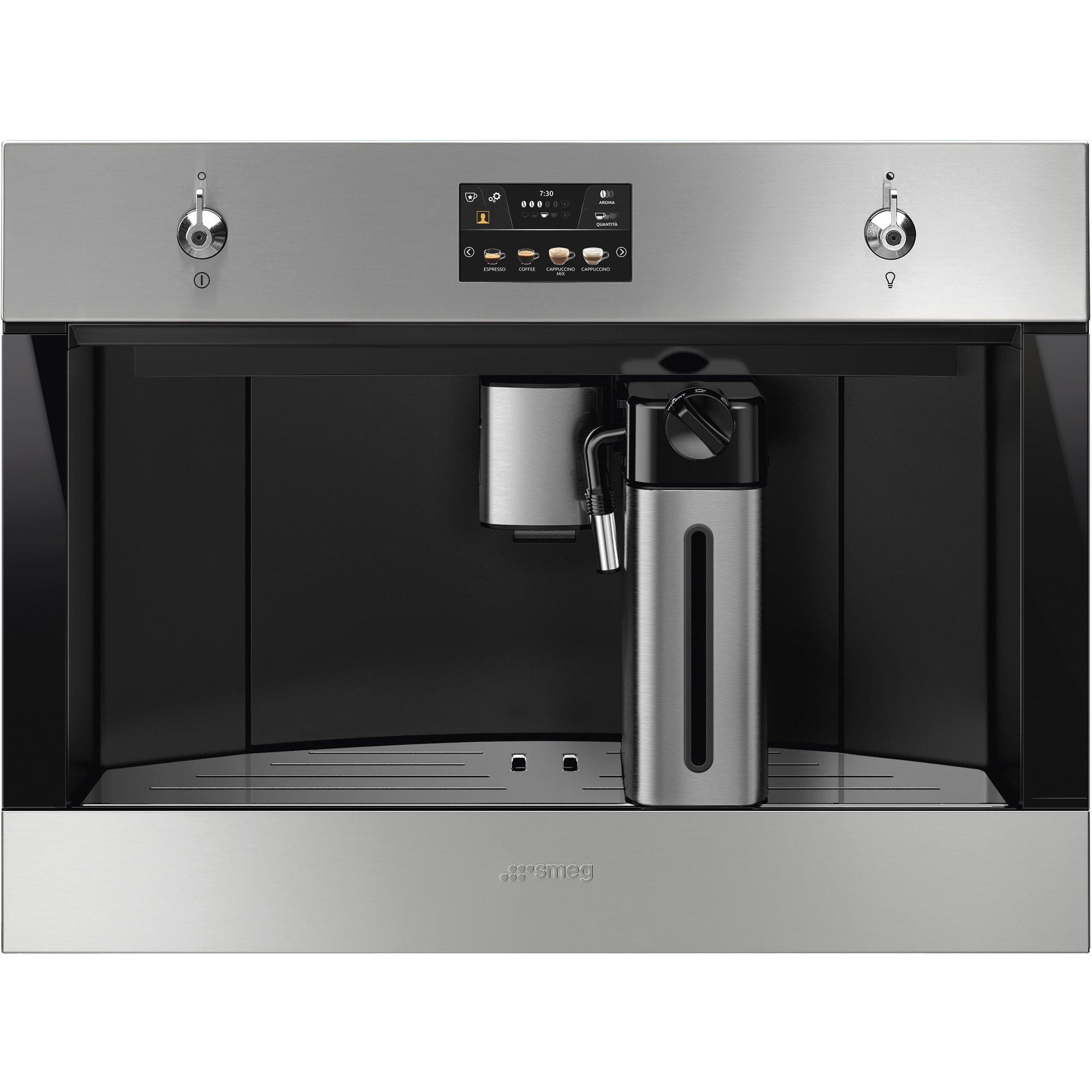 Smeg 60 cm inbyggd kaffemaskin i rostfritt stål