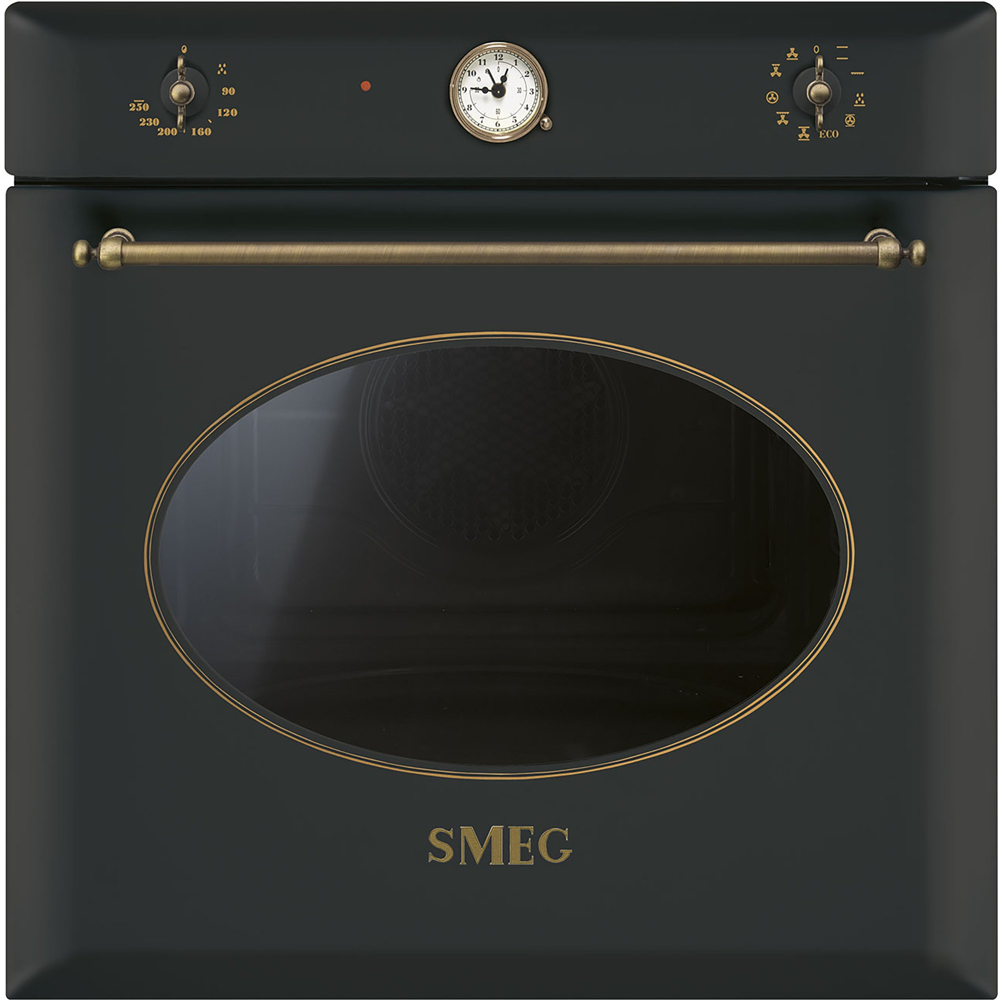 Smeg 60 cm Colonial Multifunktionsugn Antracit/Antik Mässing