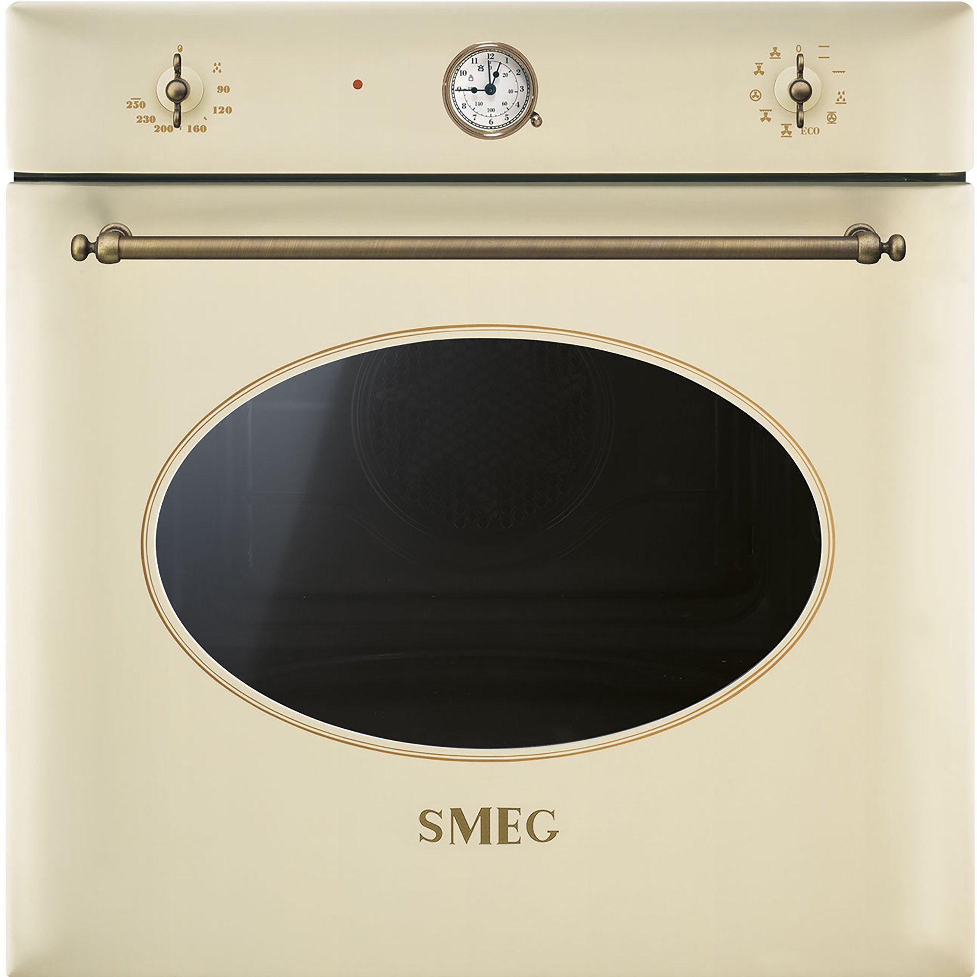 Smeg 60 cm Colonial Multifunktionsugn Creme/Antik Mässing