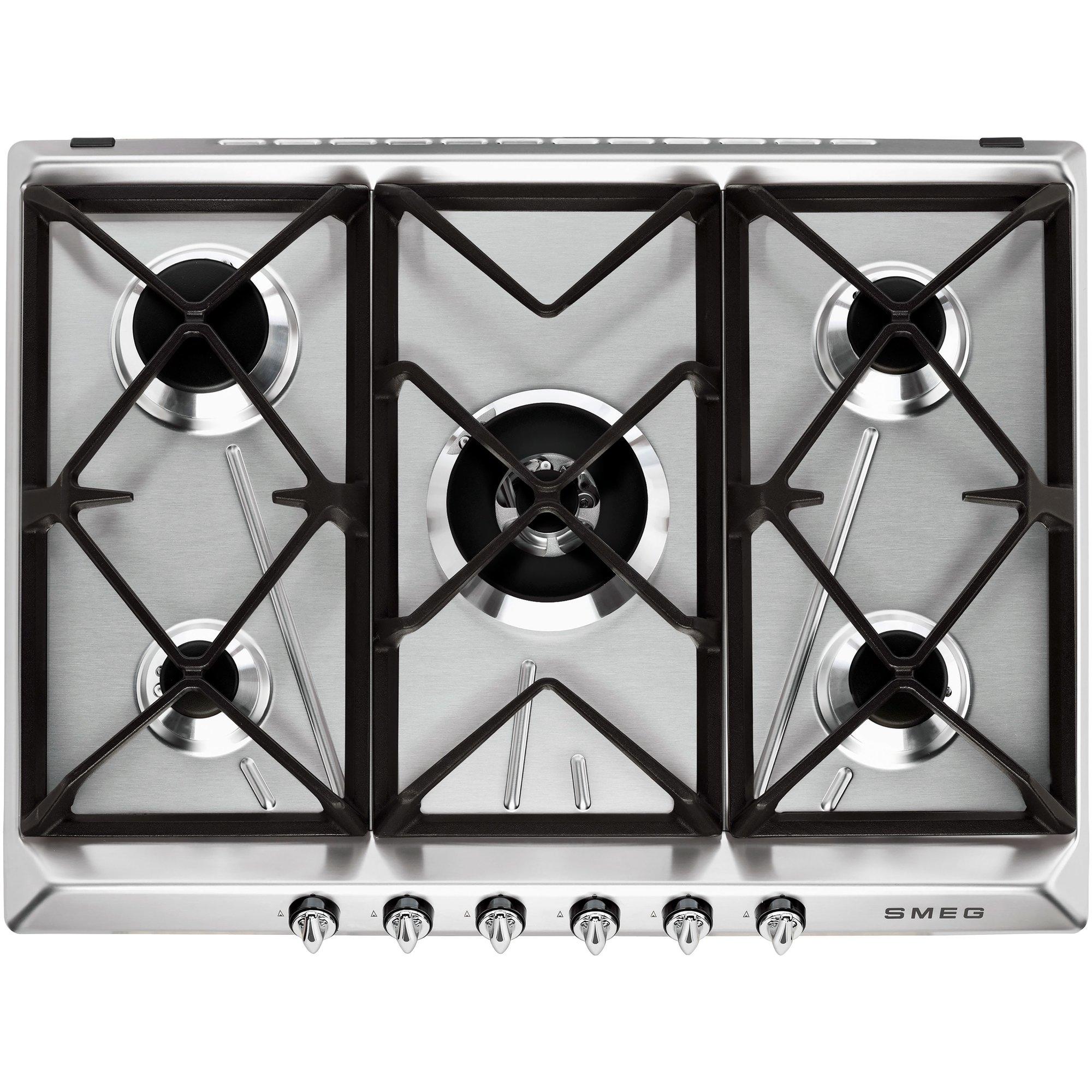 Smeg 685 cm gashäll rostfritt stål Victoria design