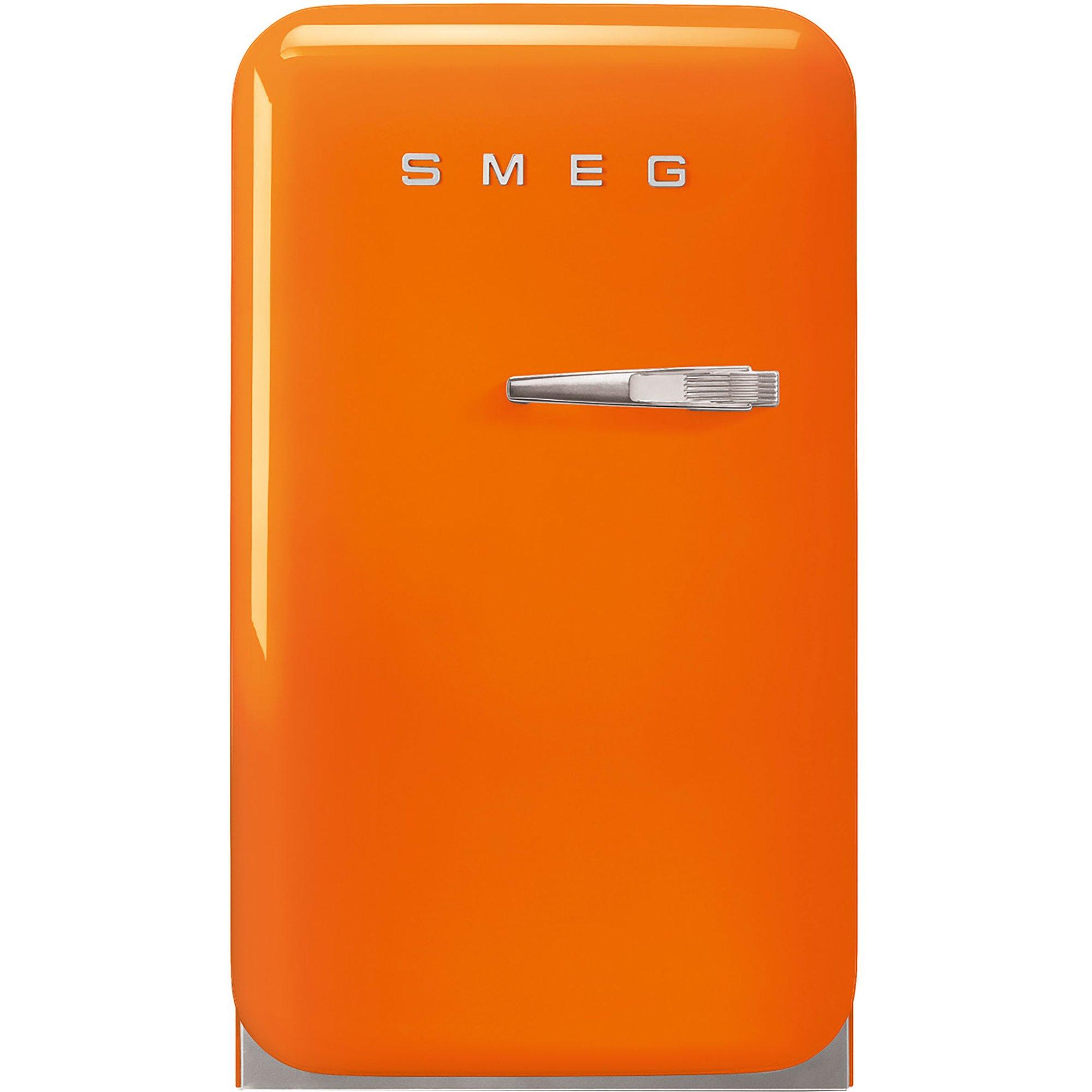 Smeg 74 cm kylskåp i retrostil vänsterhängt – orange