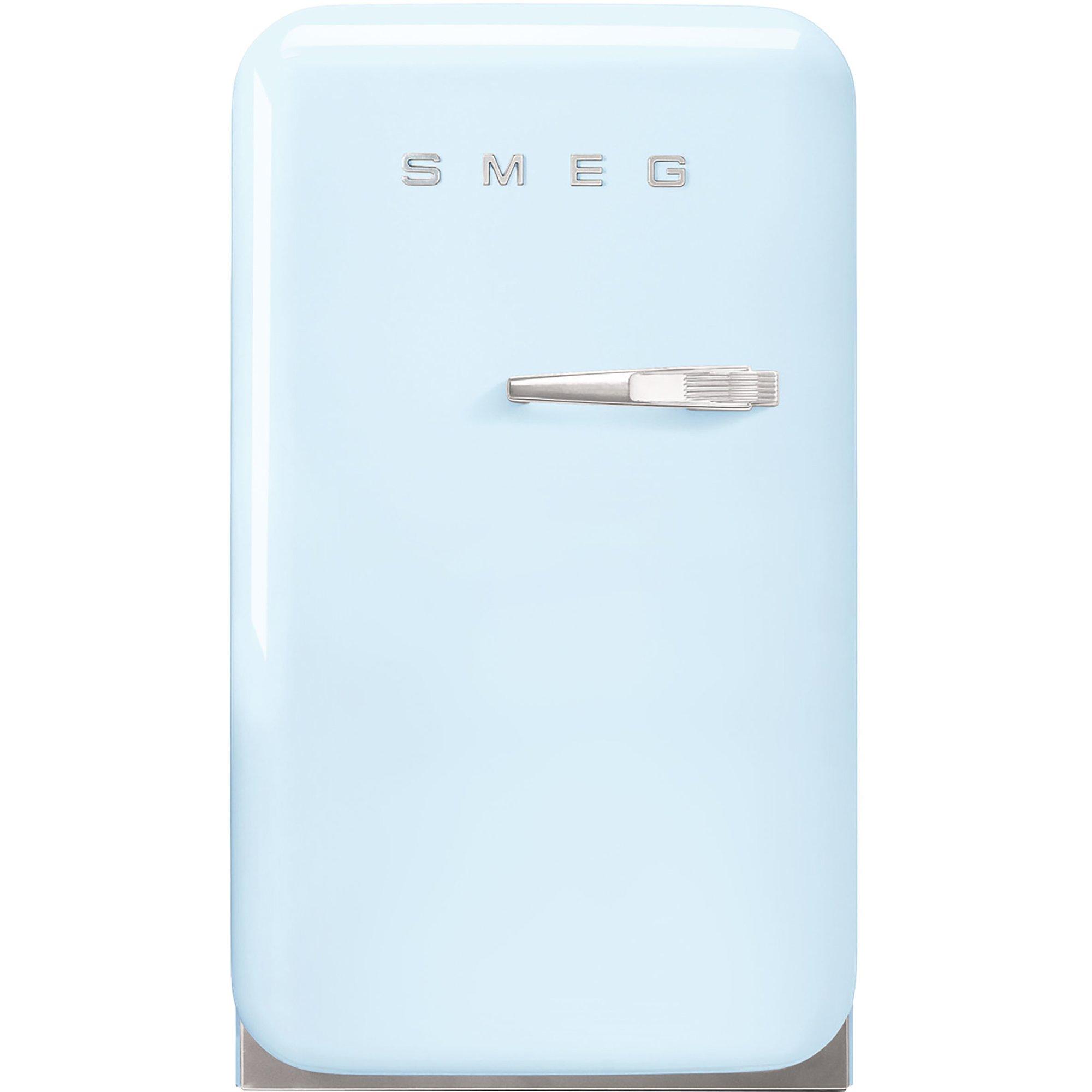 Smeg 74 cm kylskåp i retrostil vänsterhängt – pastellblå