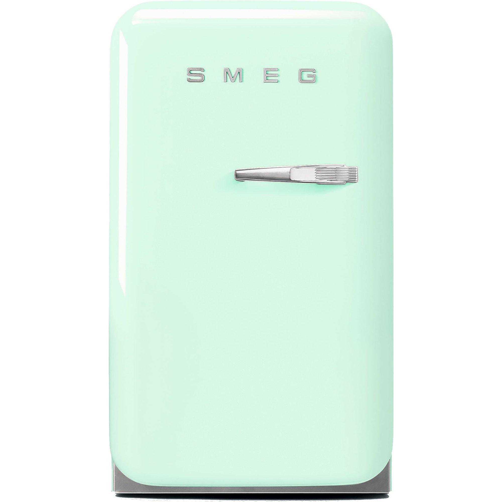 Smeg 74 cm kylskåp i retrostil vänsterhängt – pastellgrön