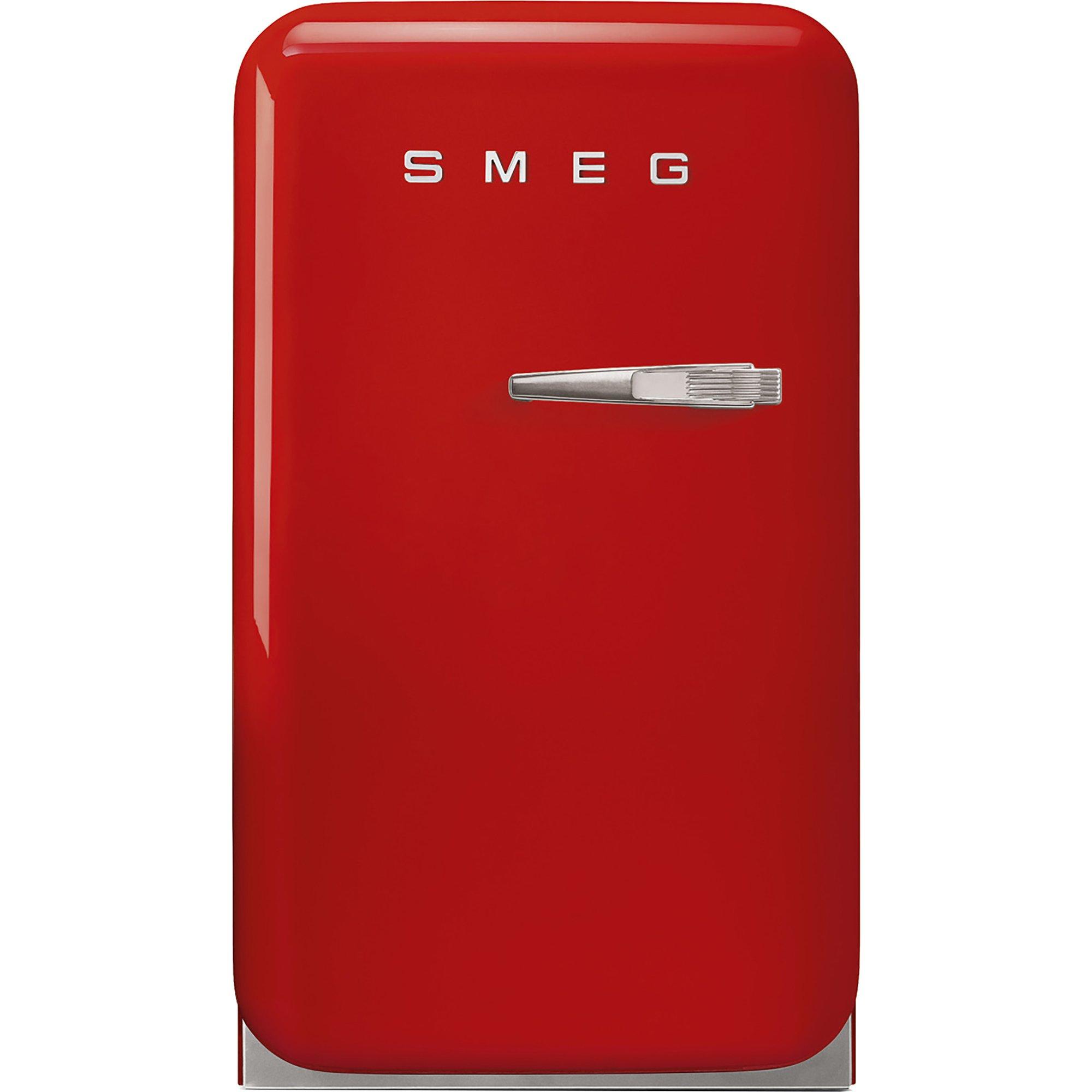Smeg 74 cm kylskåp i retrostil vänsterhängt – röd