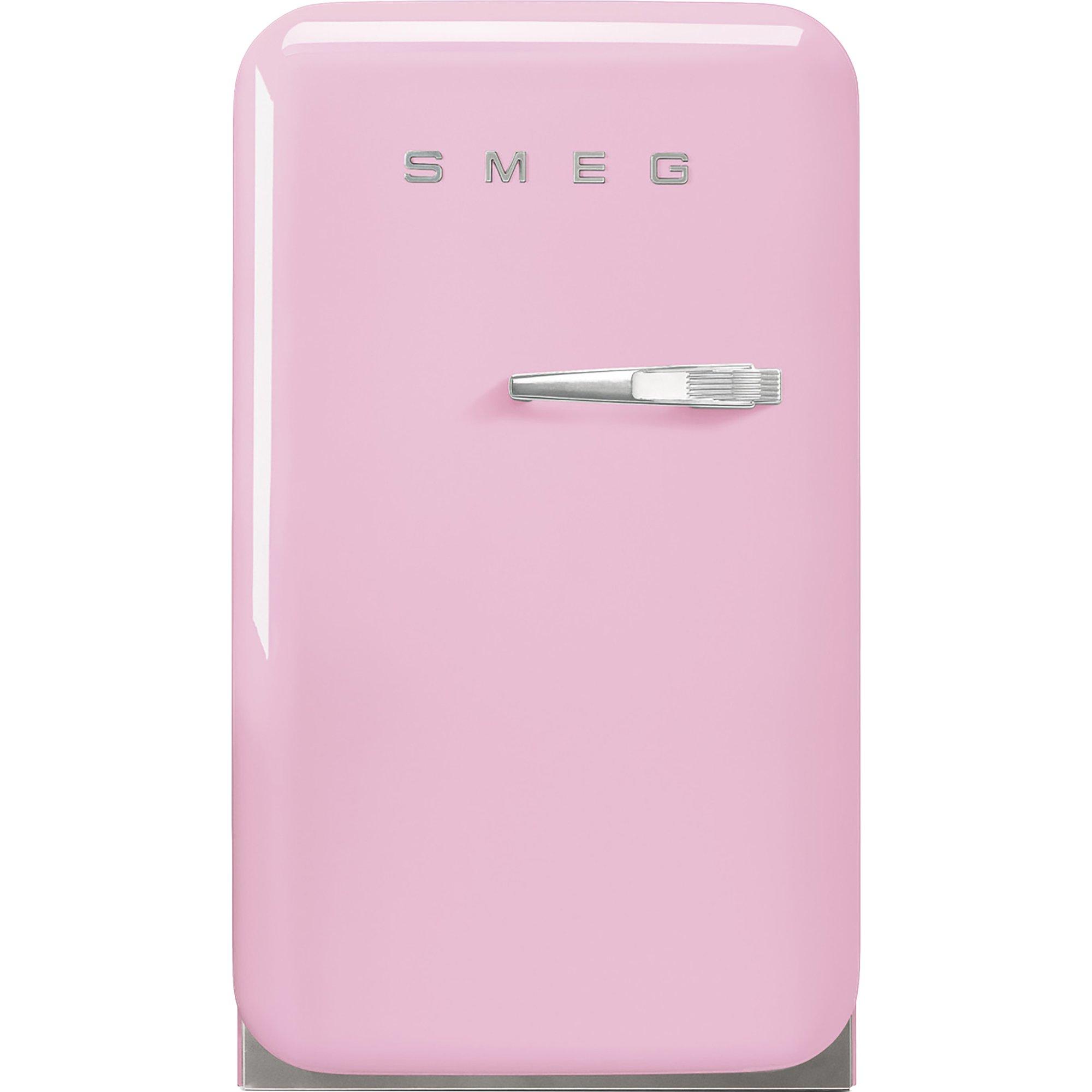 Smeg 74 cm kylskåp i retrostil vänsterhängt – rosa