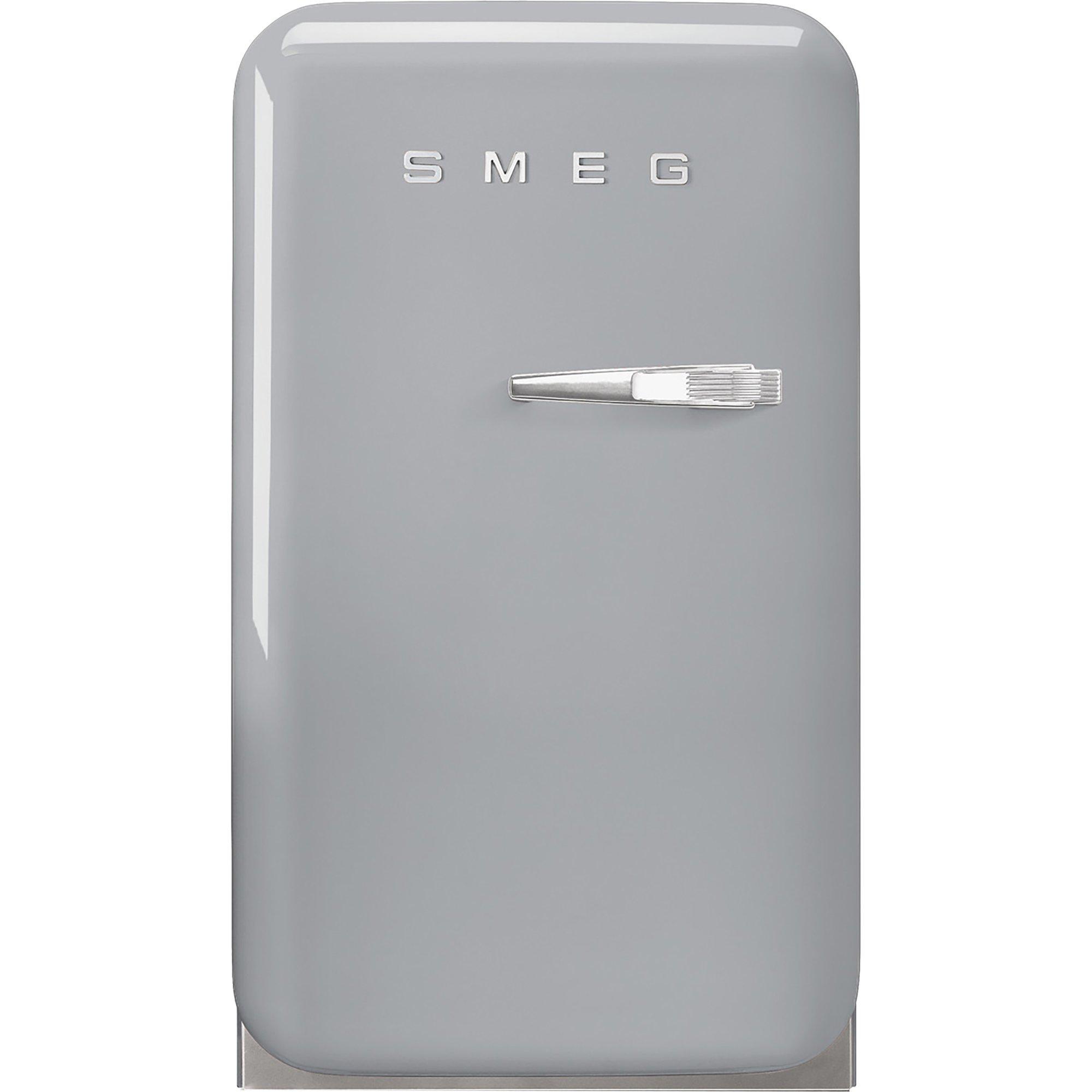 Smeg 74 cm kylskåp i retrostil vänsterhängt – silver