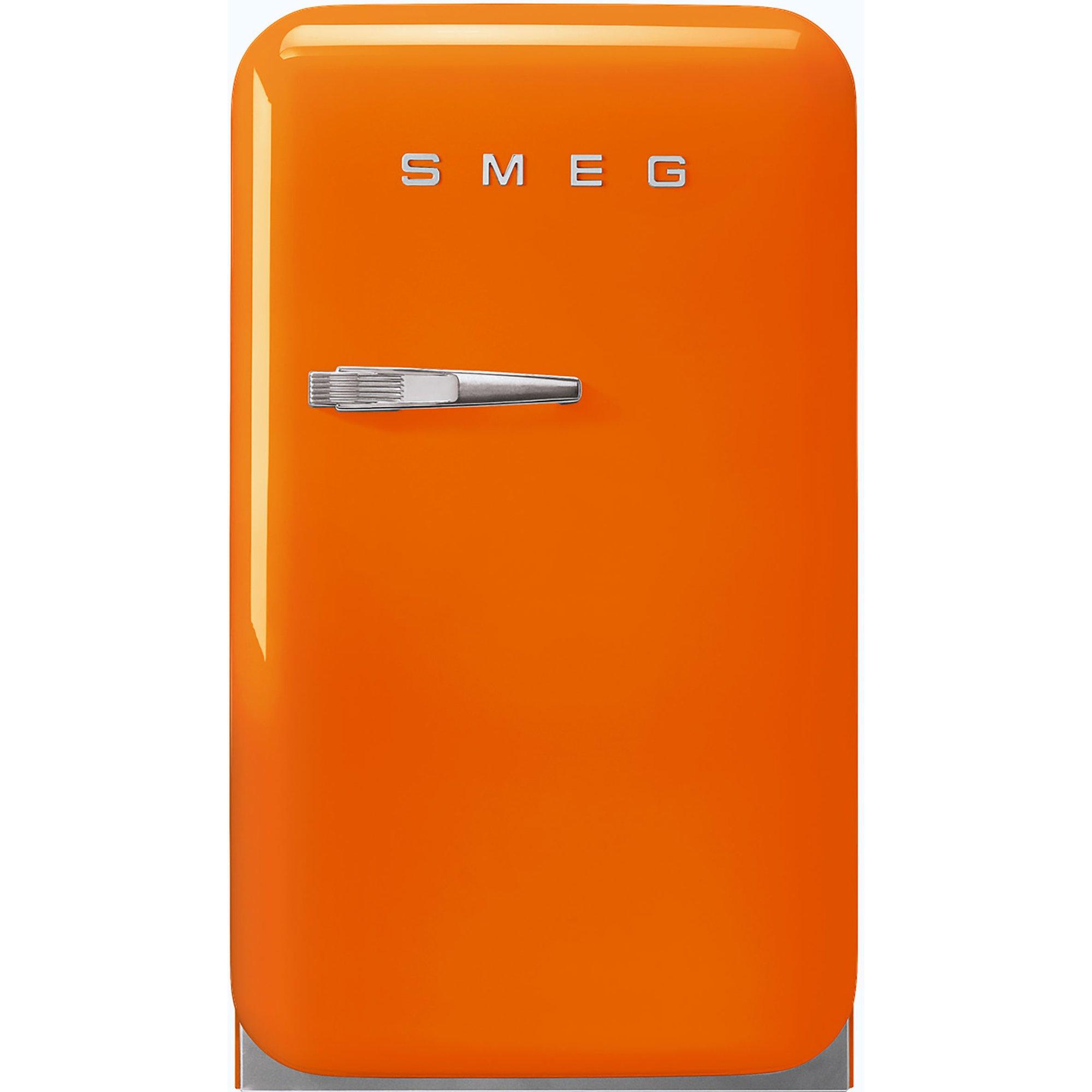 Smeg 74 cm Högerhängt Kylskåp i Retrodesign Orange