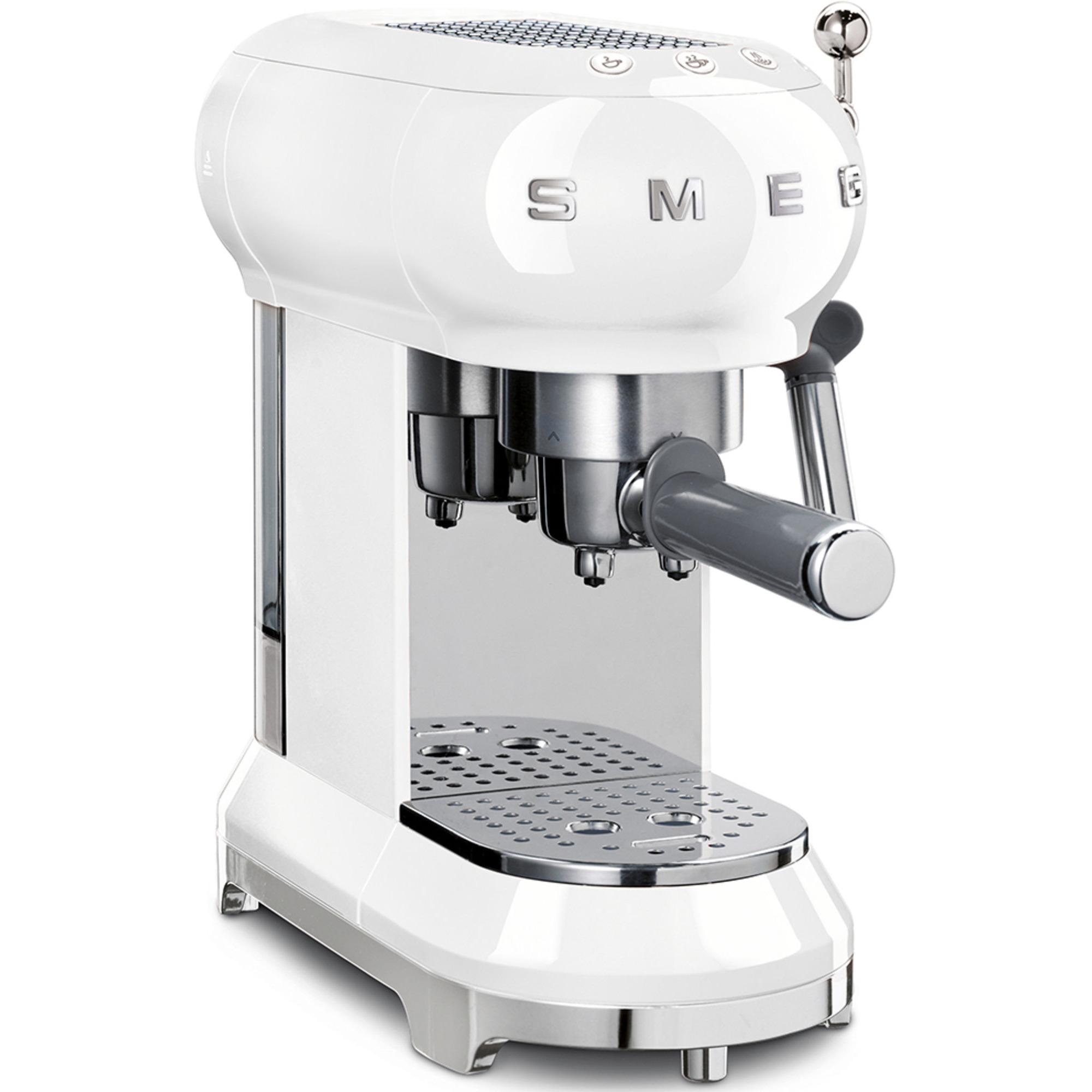 Smeg ECF01WHEU Retro 50-tals espressomaskin vit