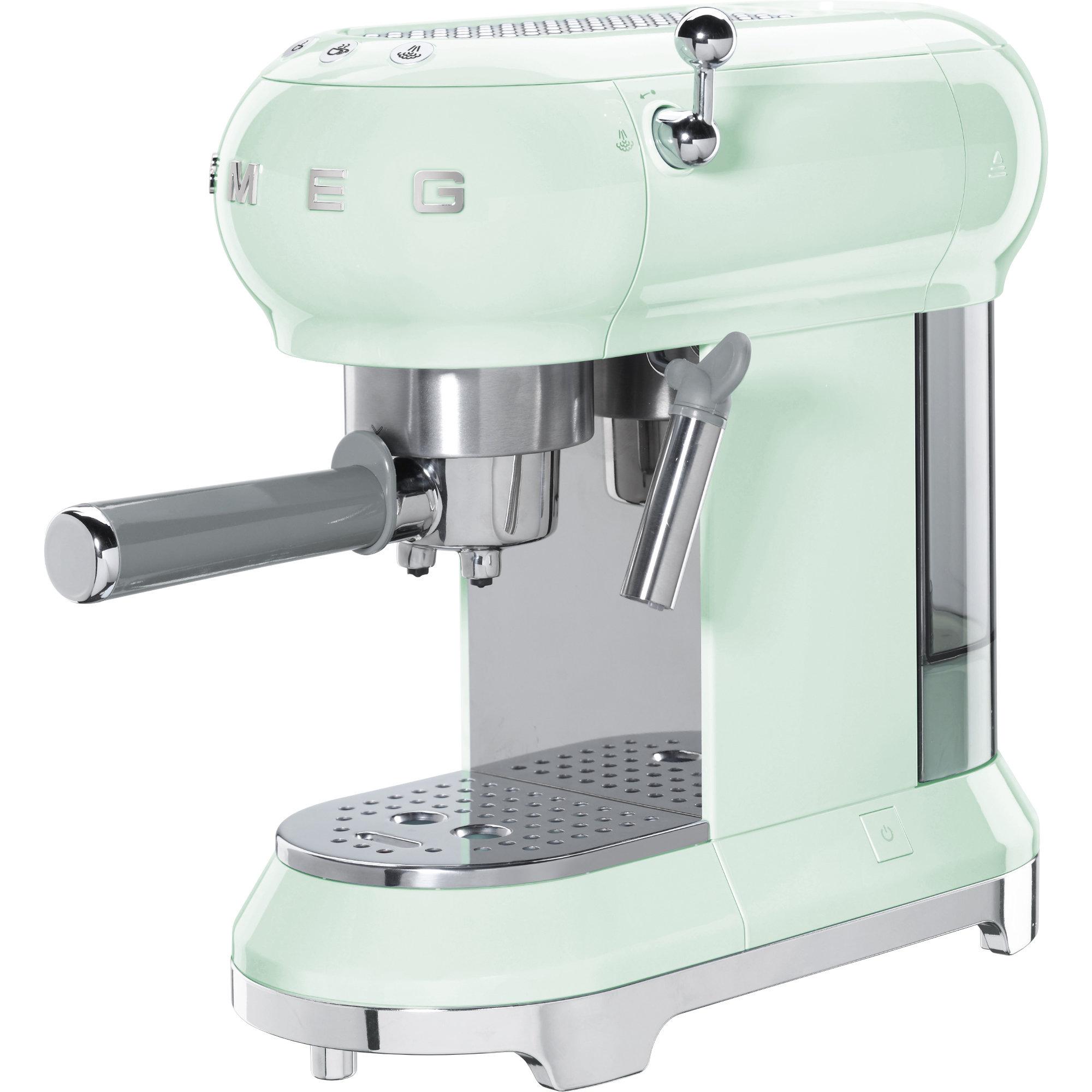Smeg Espressomaskin 50-tals stil pastellgrön