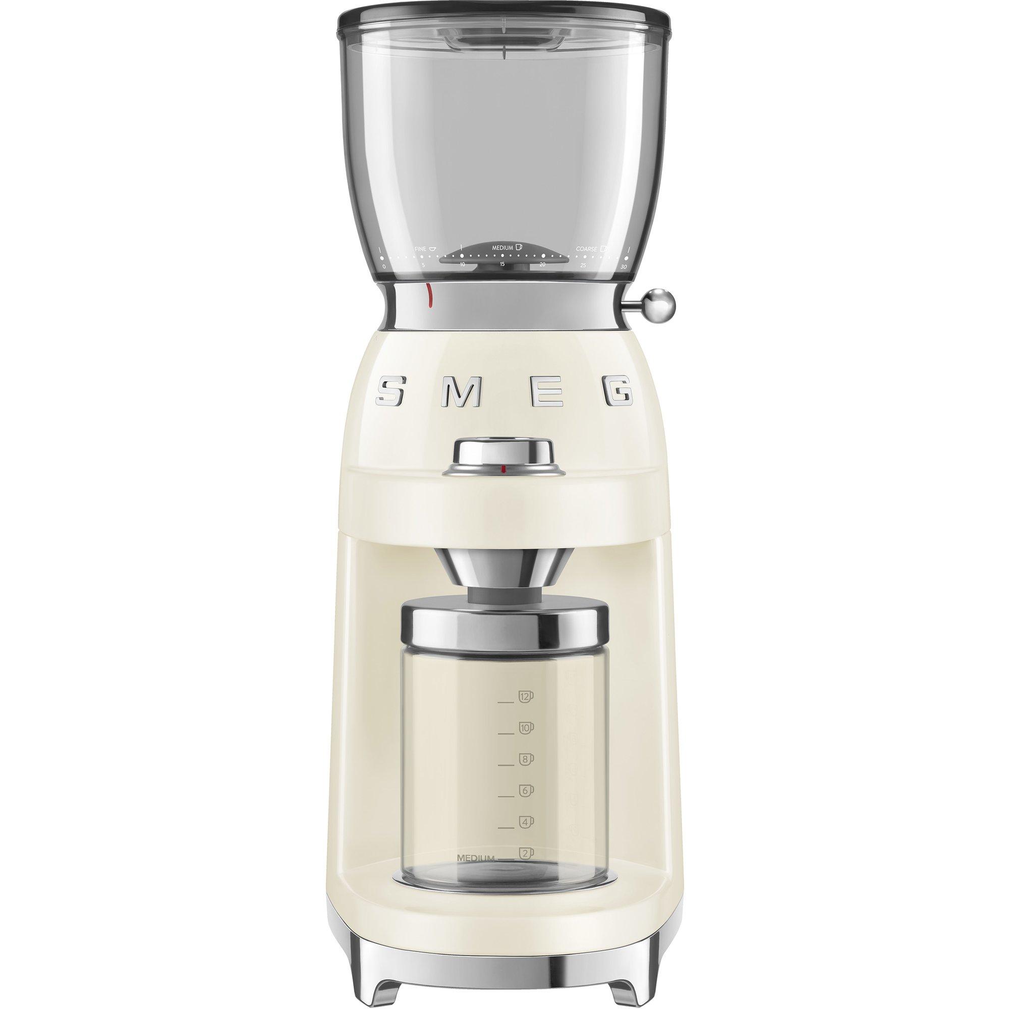 Smeg CGF01 Kaffekvarn Creme