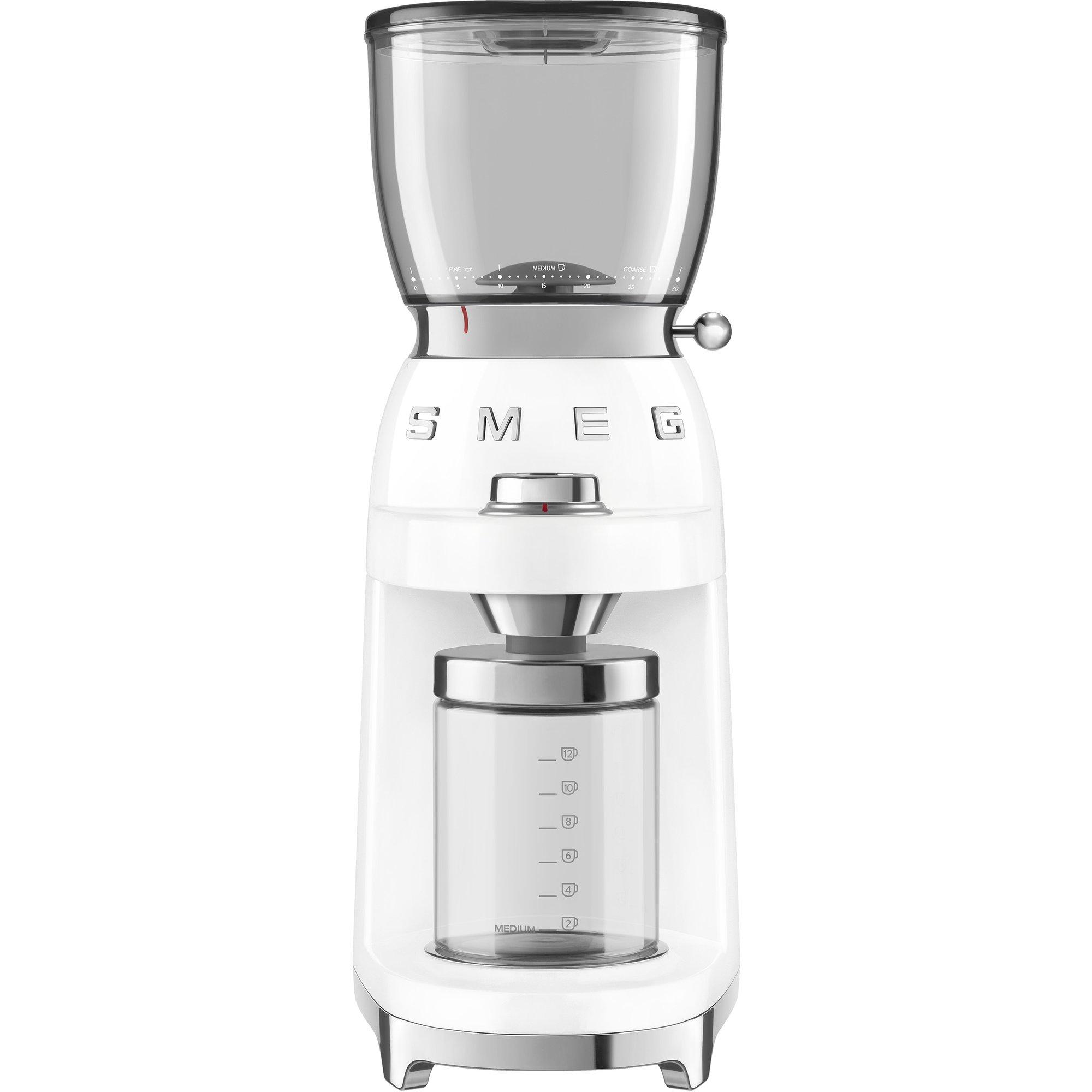 Smeg CGF01 Kaffekvarn Vit