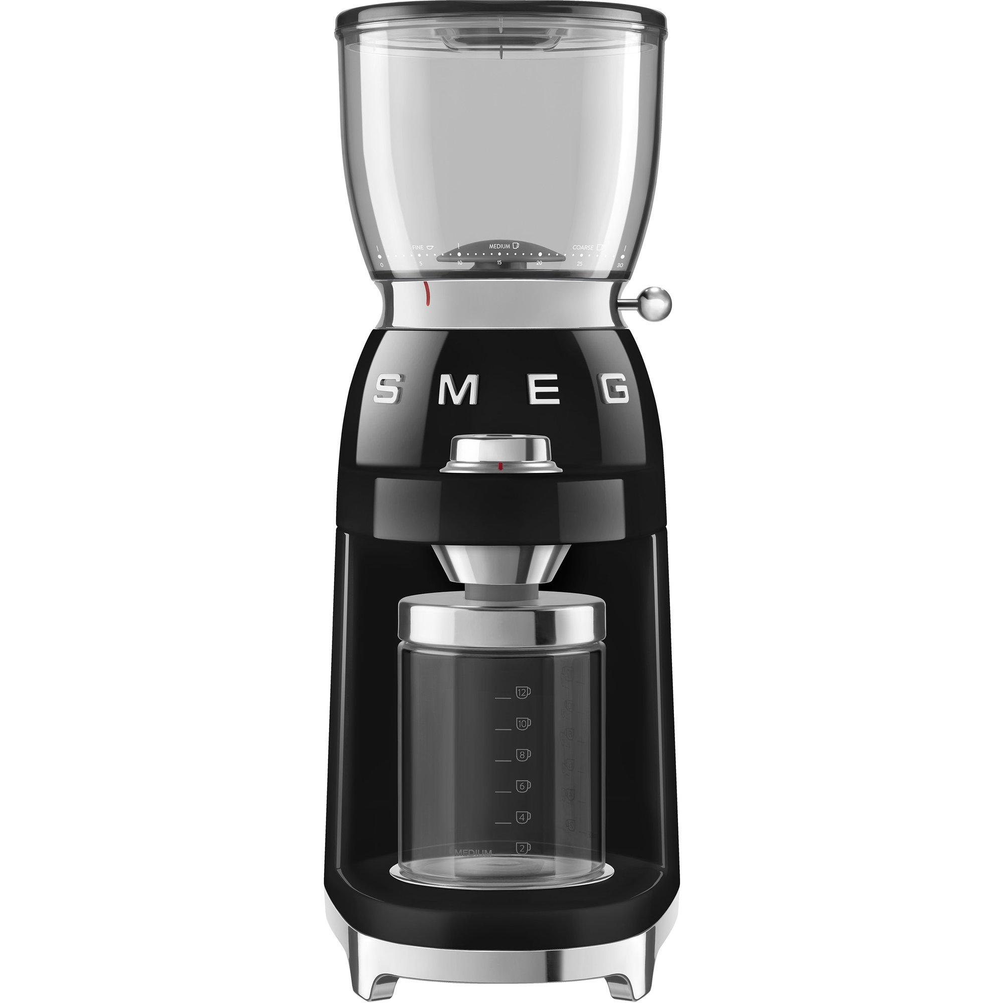 Smeg CGF01 Kaffekvarn Svart