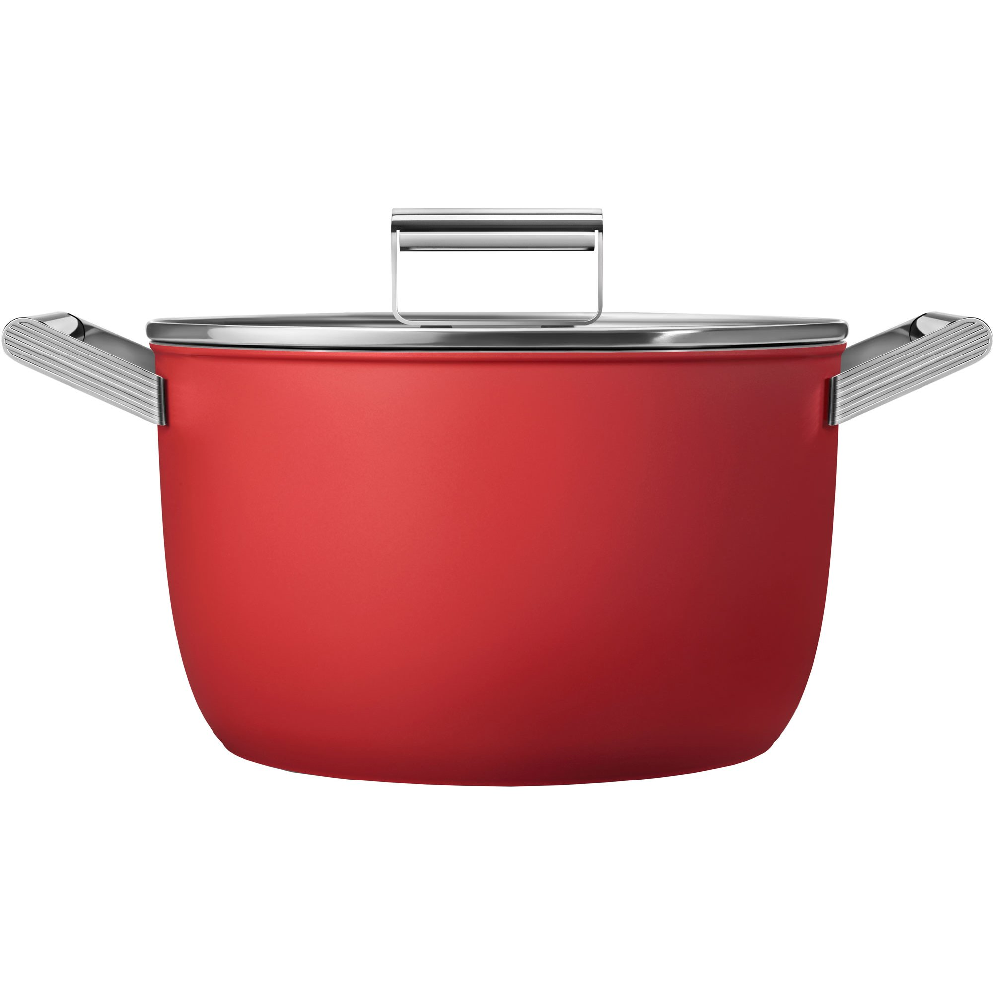 Smeg Kastrull m/lock 26 cm röd