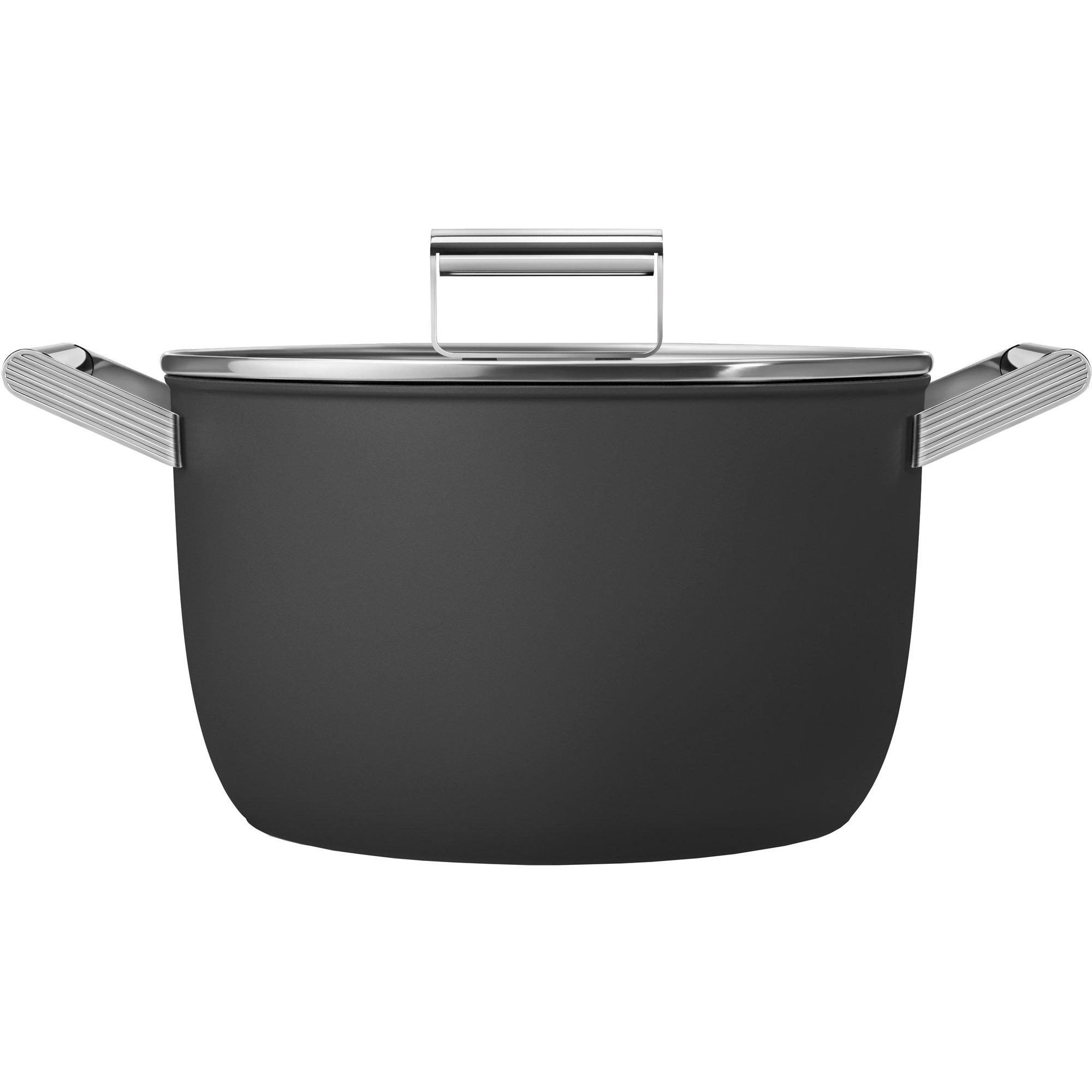 Smeg Kastrull m/lock 26 cm svart