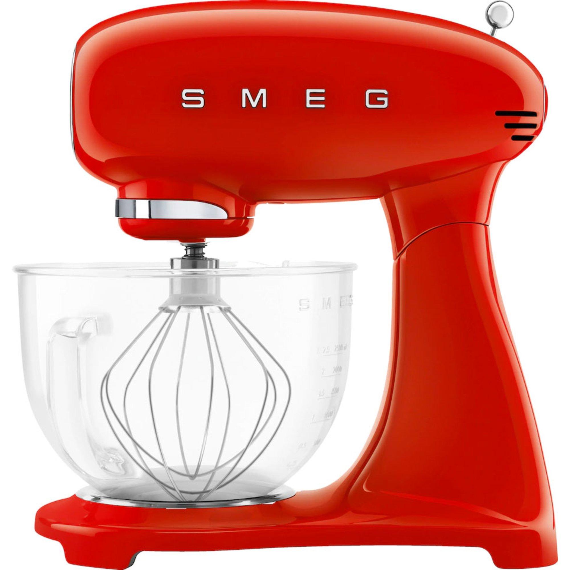 Smeg Köksassistent 48 liter röd m/glasskål