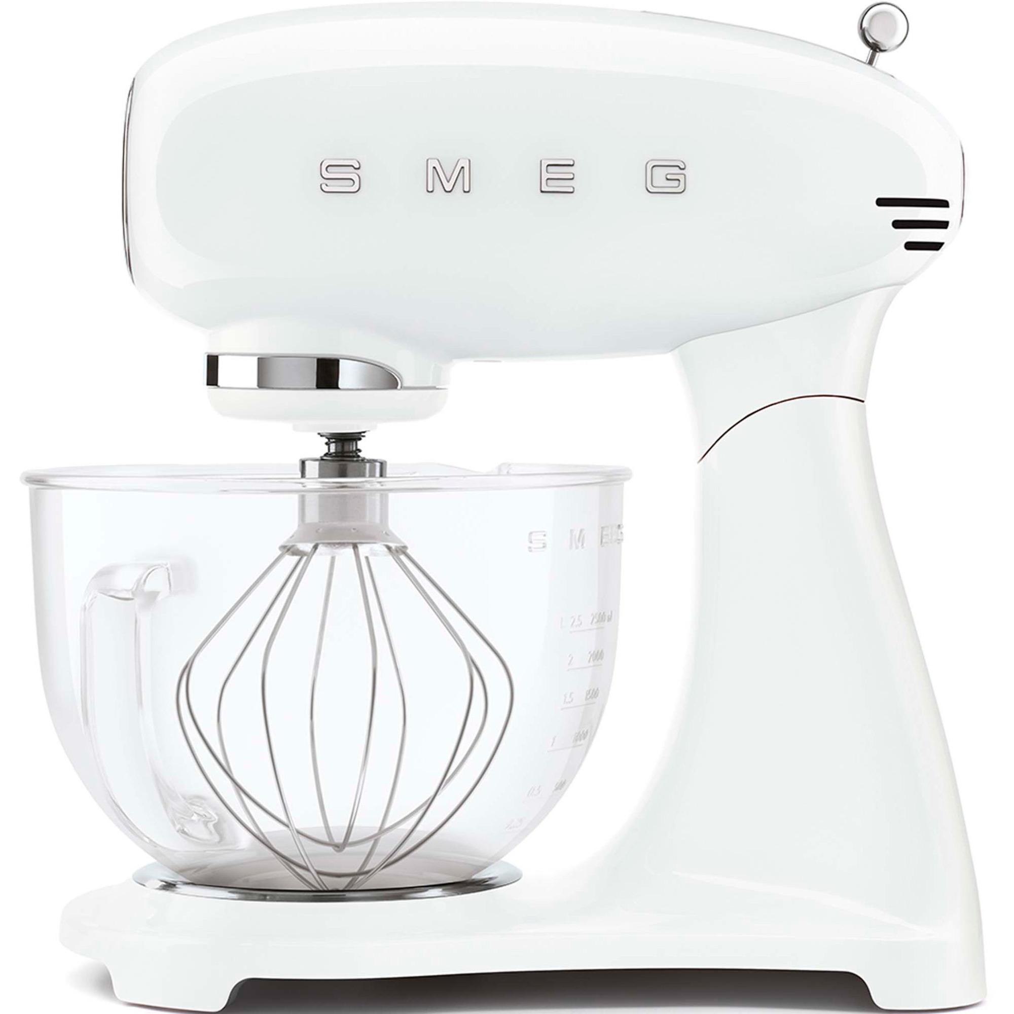 Smeg Köksmaskin 4.8L – Vit med glasskål