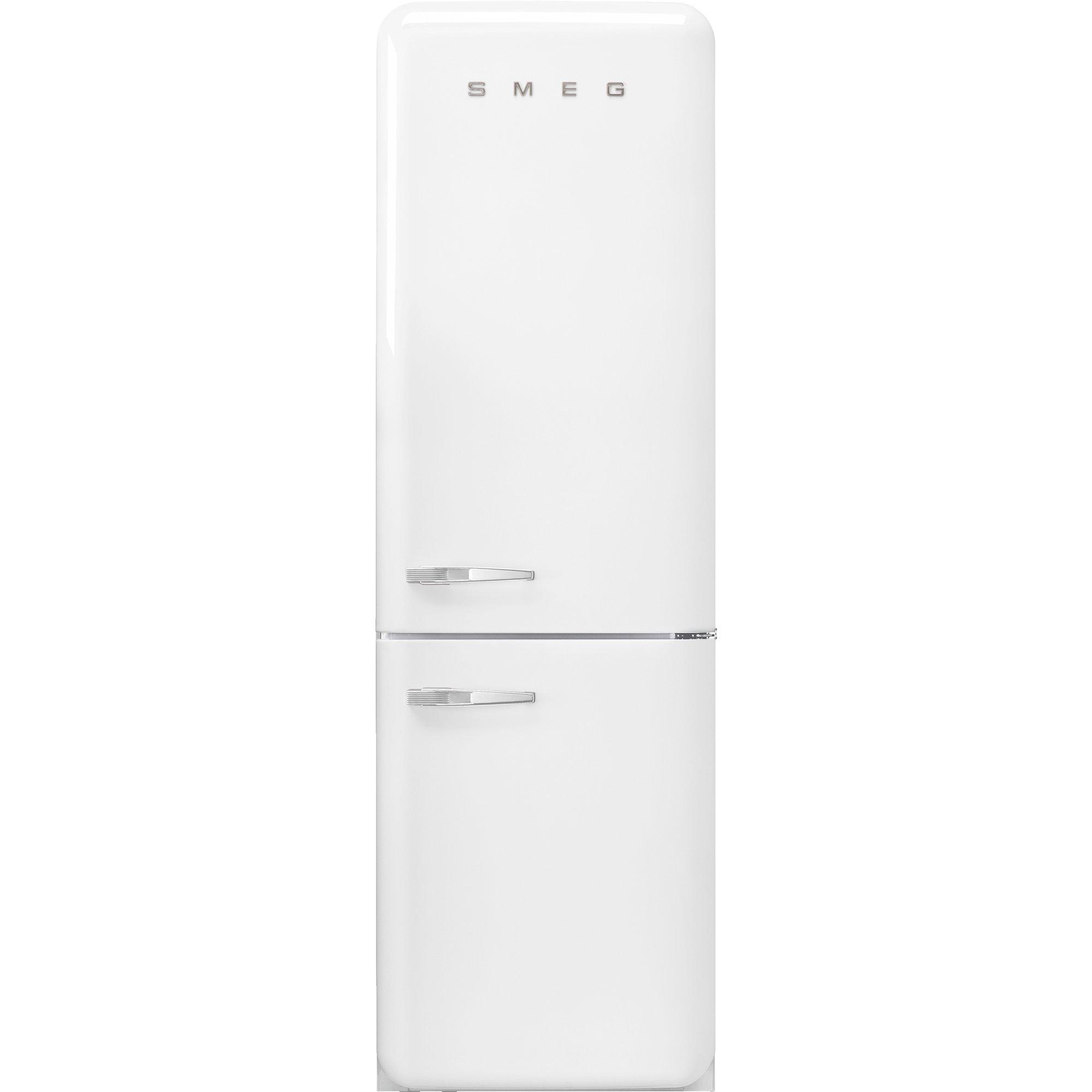 Smeg Kylskåp/frys i 50-tals retrostil högerhängt vit