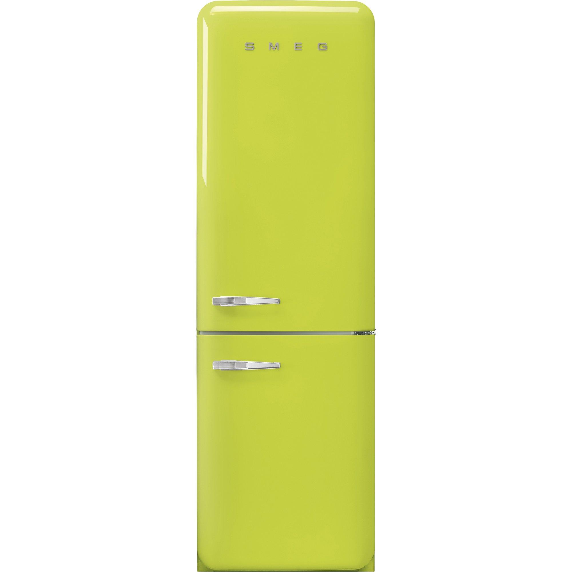 Smeg Kylskåp/frys i 50-tals retrostil högerhängt limegrön