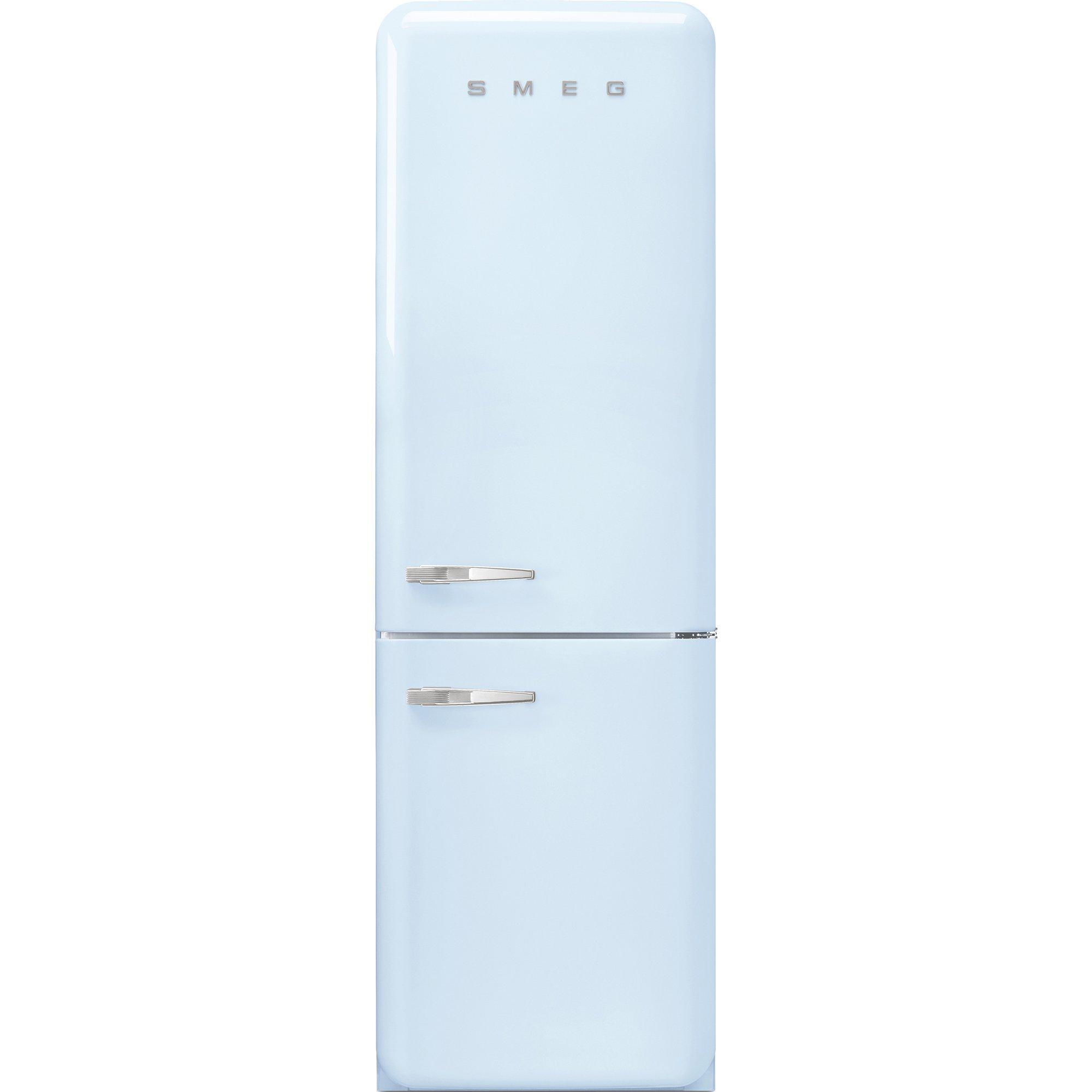 Smeg Kylskåp/frys i 50-tals retrostil högerhängt pastellblå