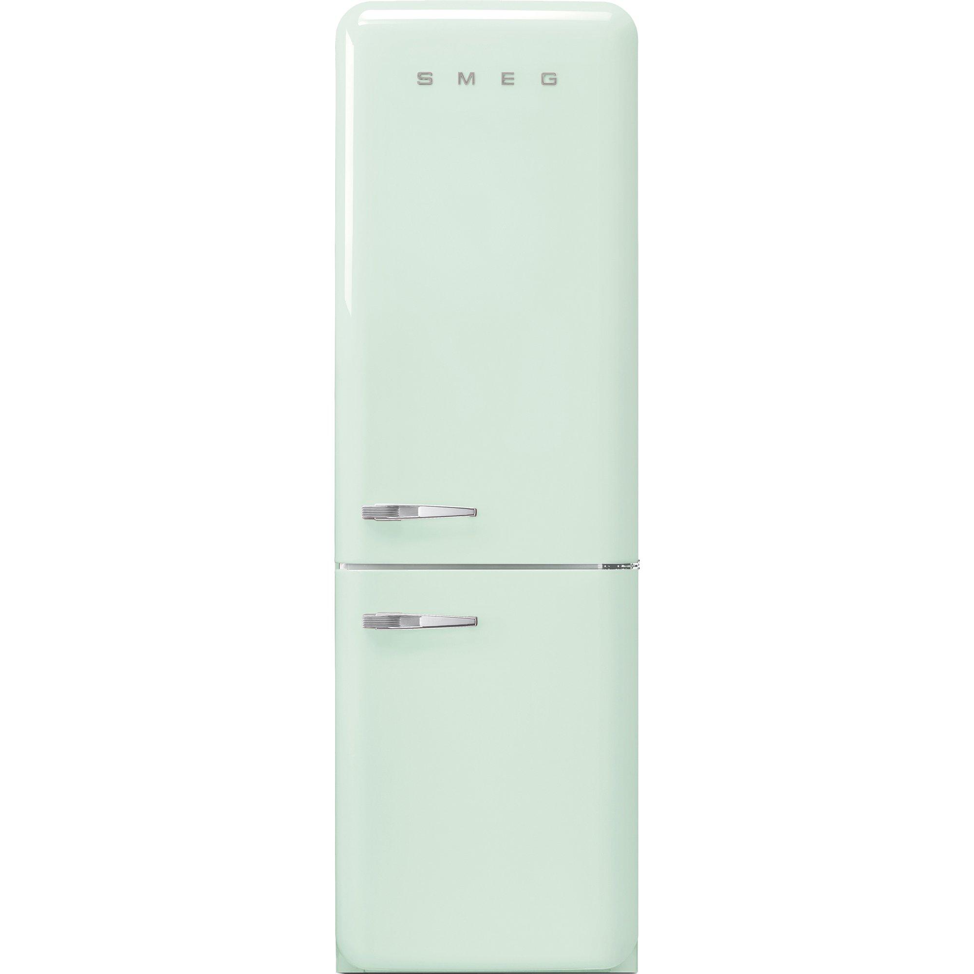 Smeg Kylskåp/frys i 50-tals retrostil högerhängt pastellgrön