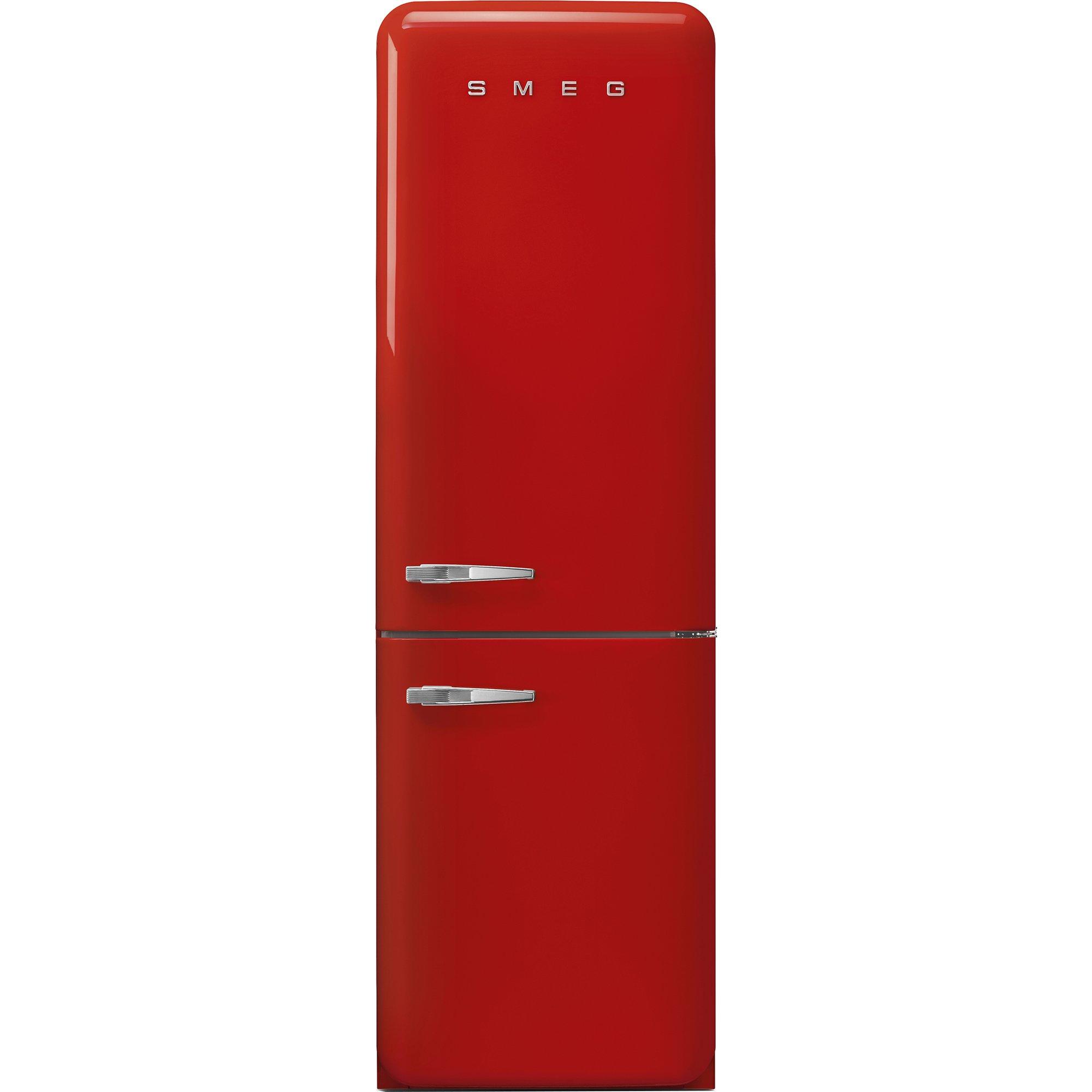 Smeg Kylskåp/frys i 50-tals retrostil högerhängt röd