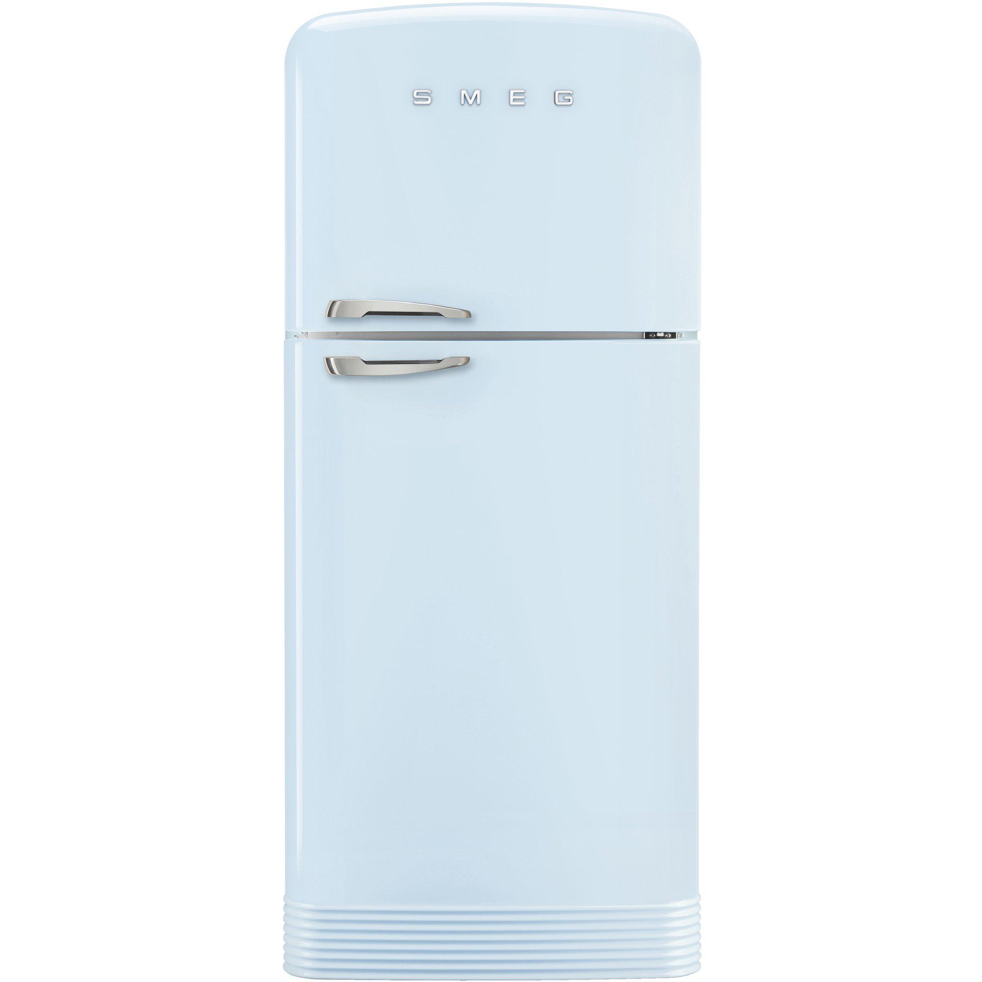 Smeg Kylskåp/frys i retrodesign högerhängt pastellblå