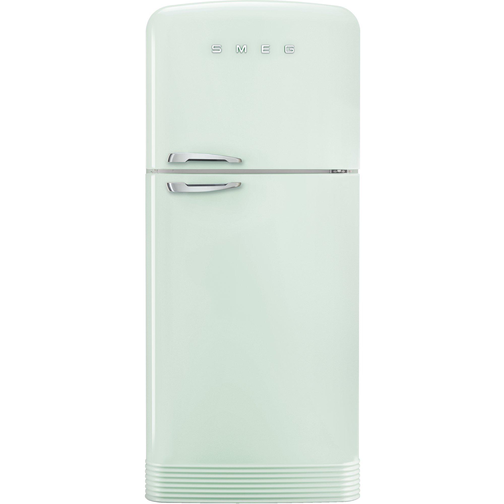Smeg Kylskåp/frys i retrodesign högerhängt pastellgrön