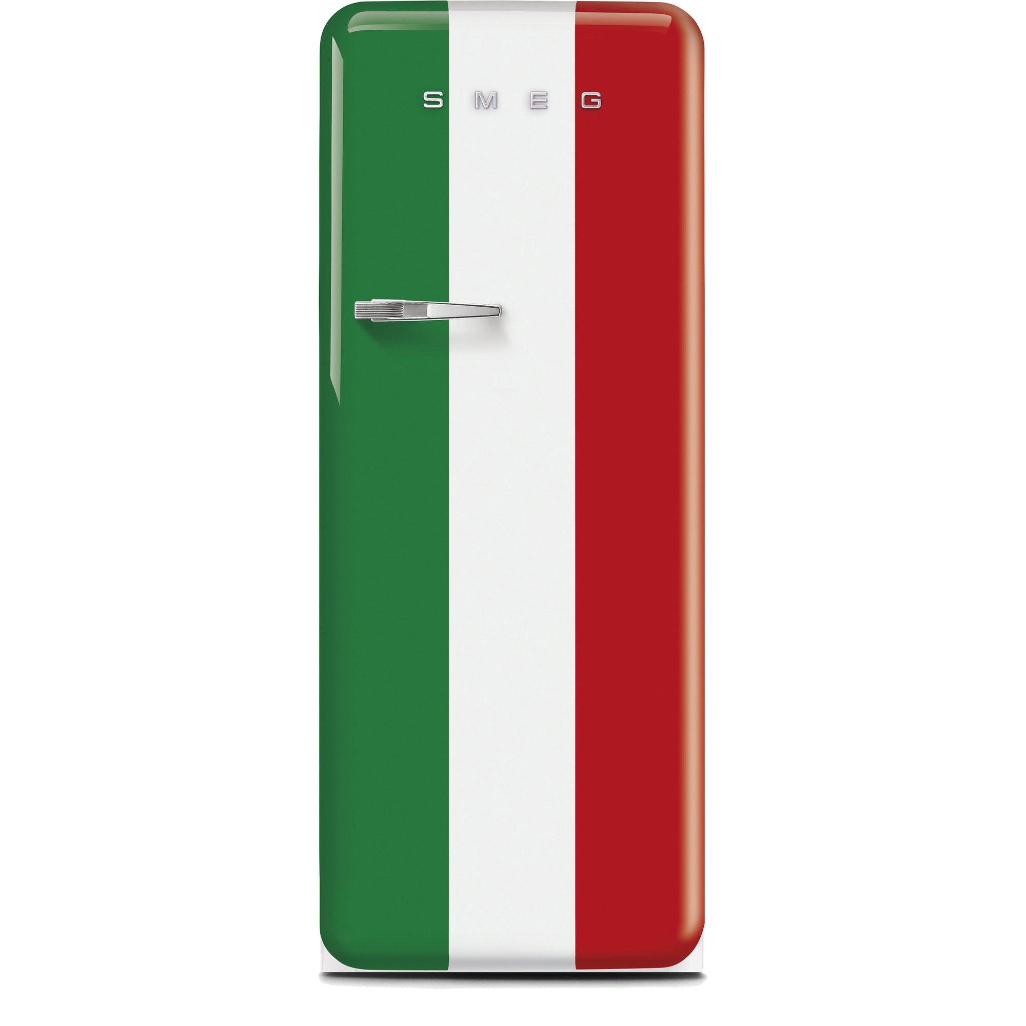 Smeg Kylskåp i 50-tals Retrostil Högerhängt Italienska Flaggan