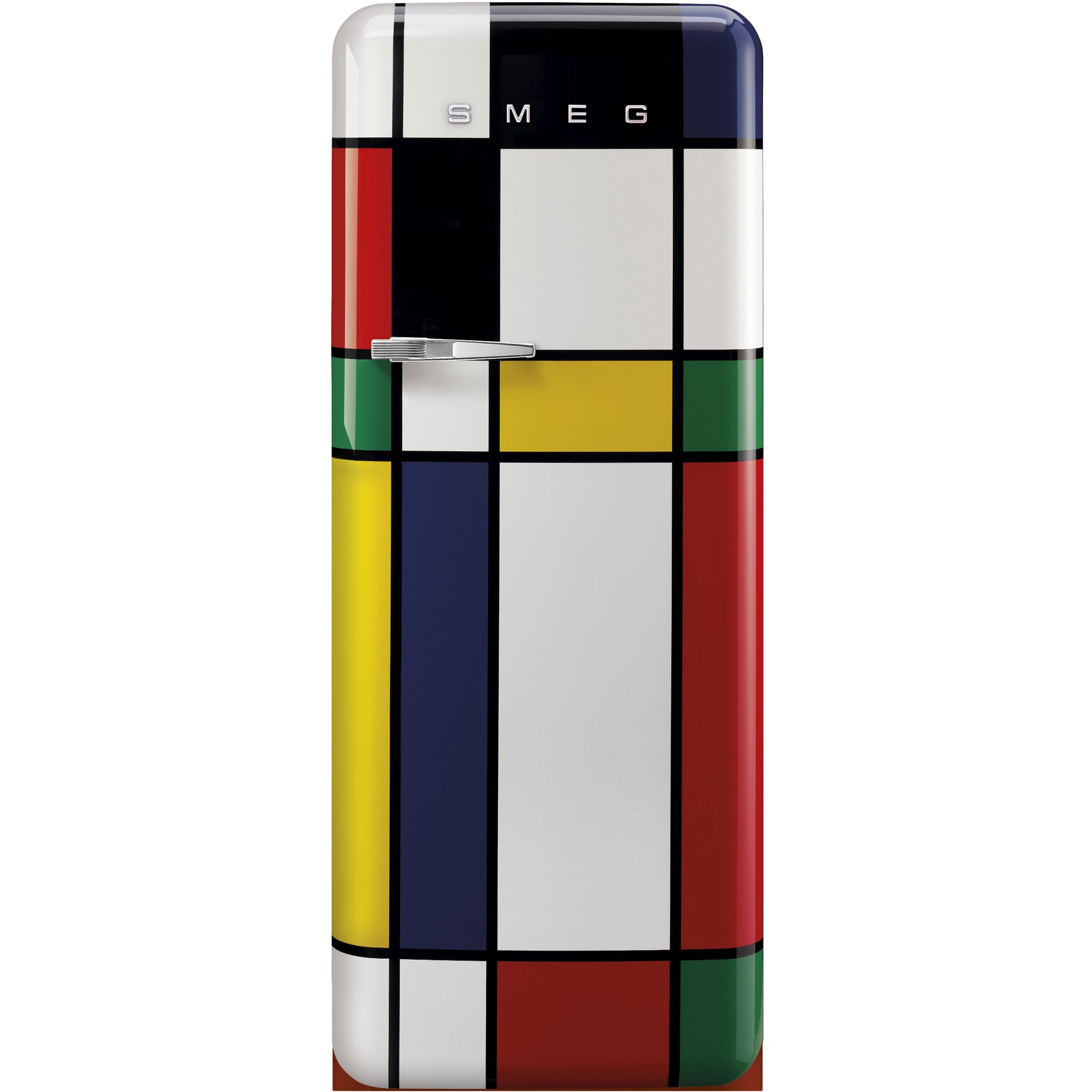 Smeg Kylskåp i 50-tals Retrostil Högerhängt Mondrian