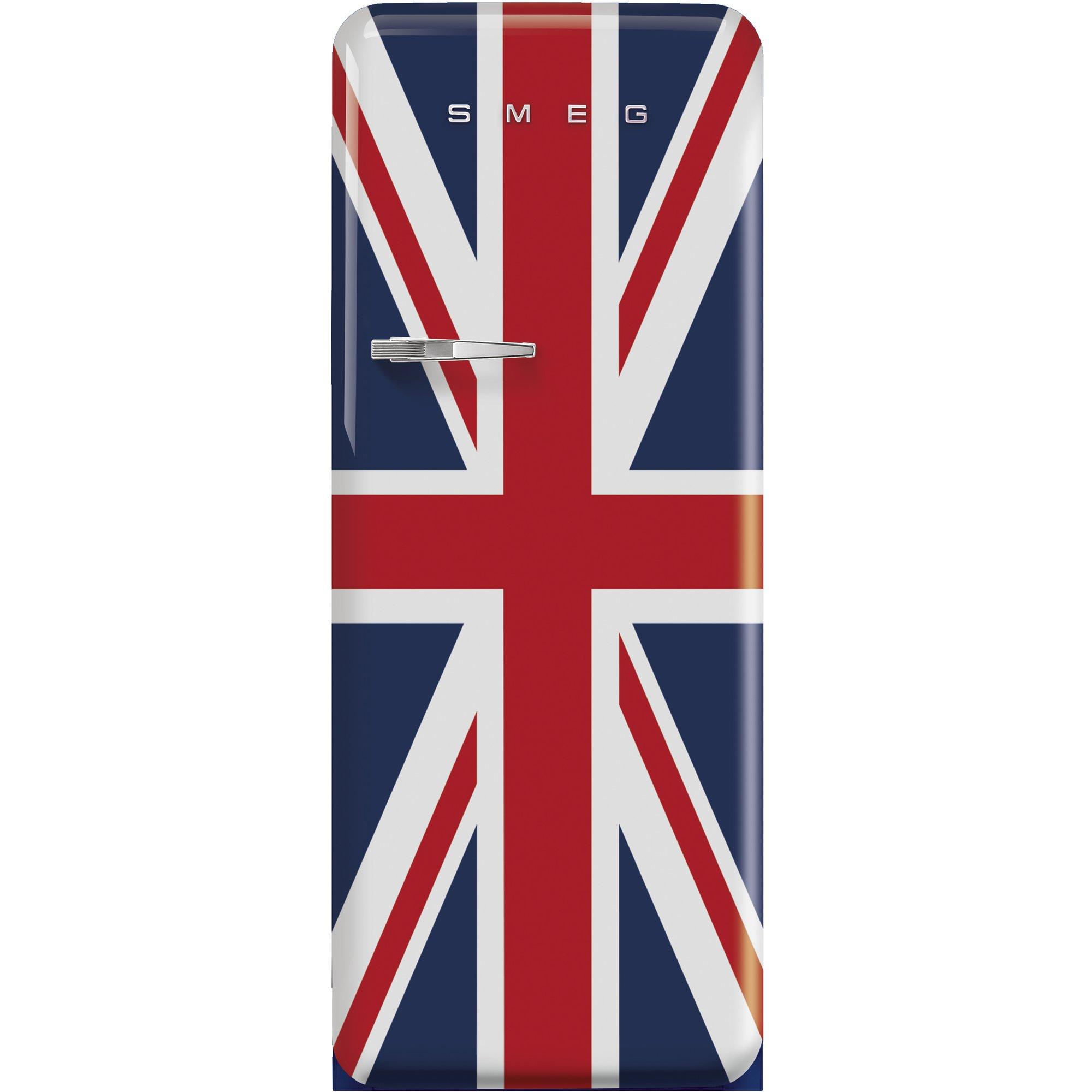 Smeg Kylskåp i 50-tals Retrostil Högerhängt Union Jack