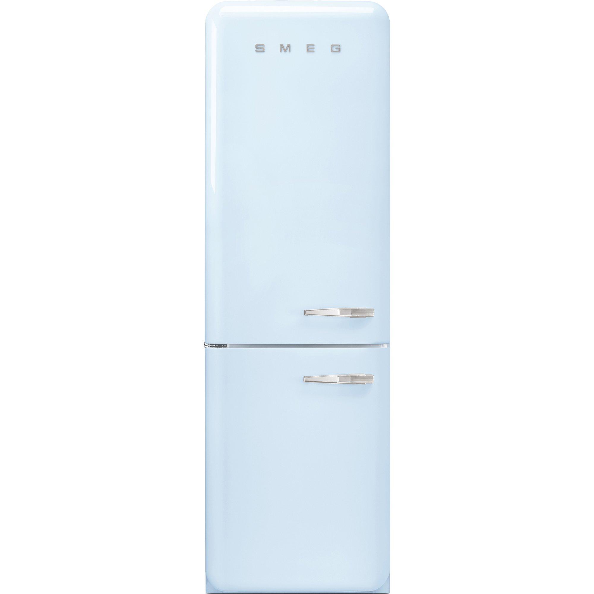 Smeg Vänsterhängt Kylskåp/frys i Retrodesign Pastellblå