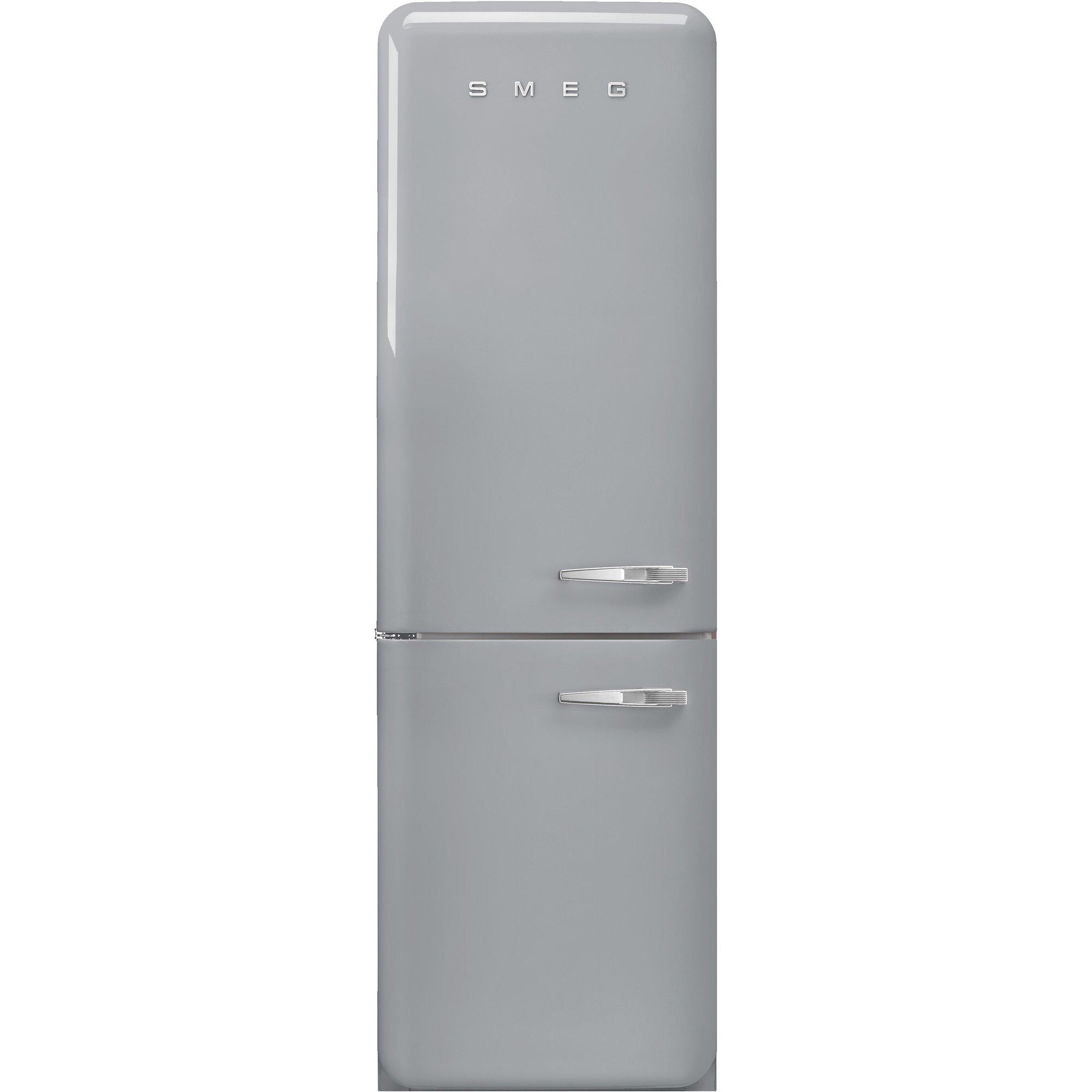 Smeg Vänsterhängt Kylskåp/frys i Retrodesign Silvergrå